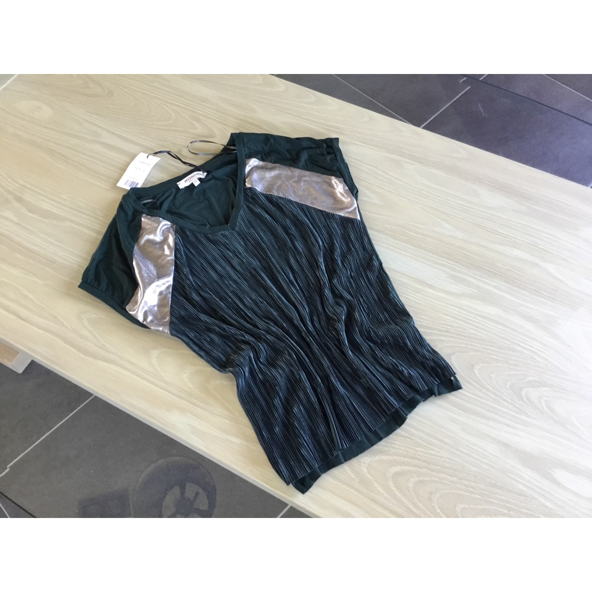 Top, tee-shirt MORGAN Vert
