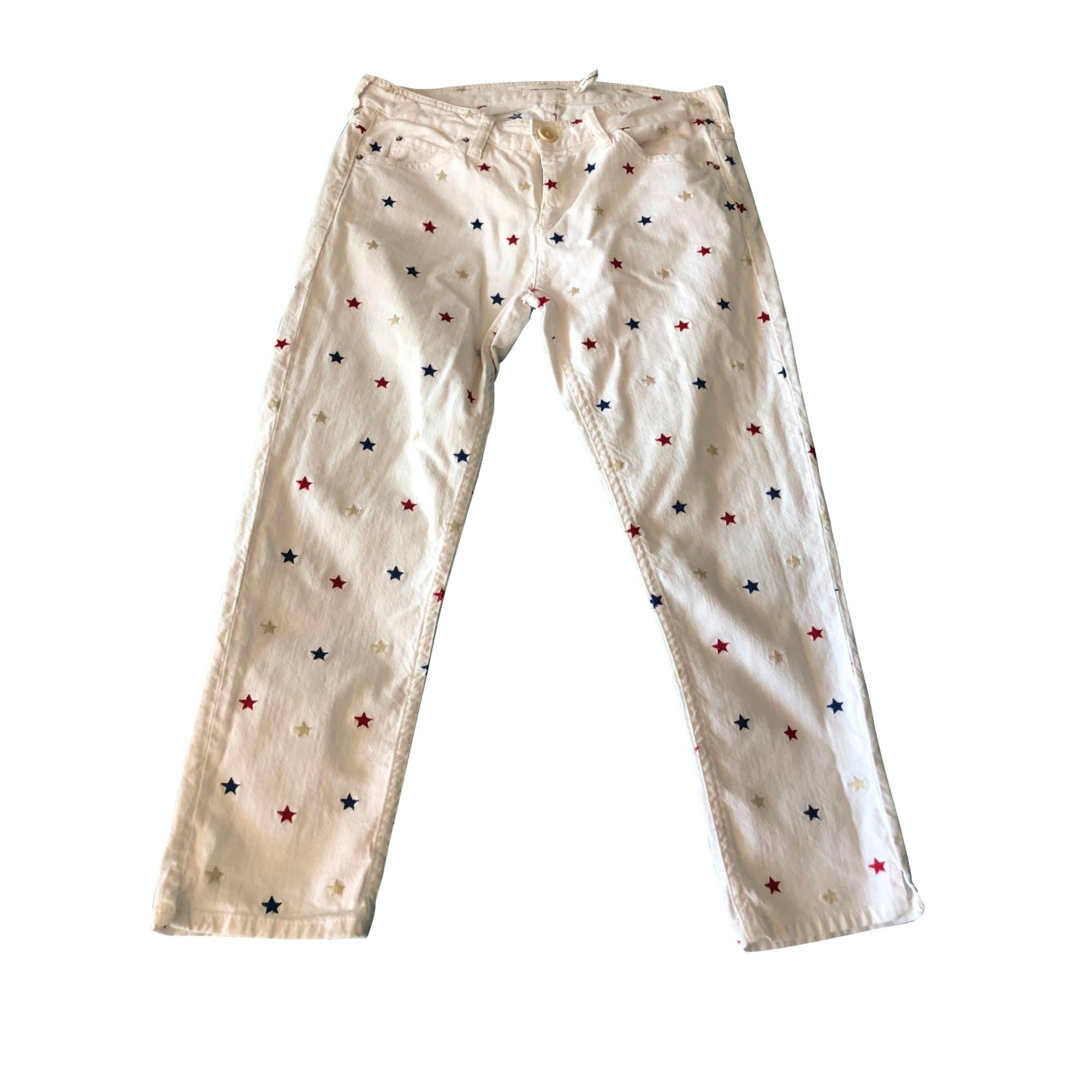 Jeans droit ISABEL MARANT ETOILE Blanc, blanc cassé, écru