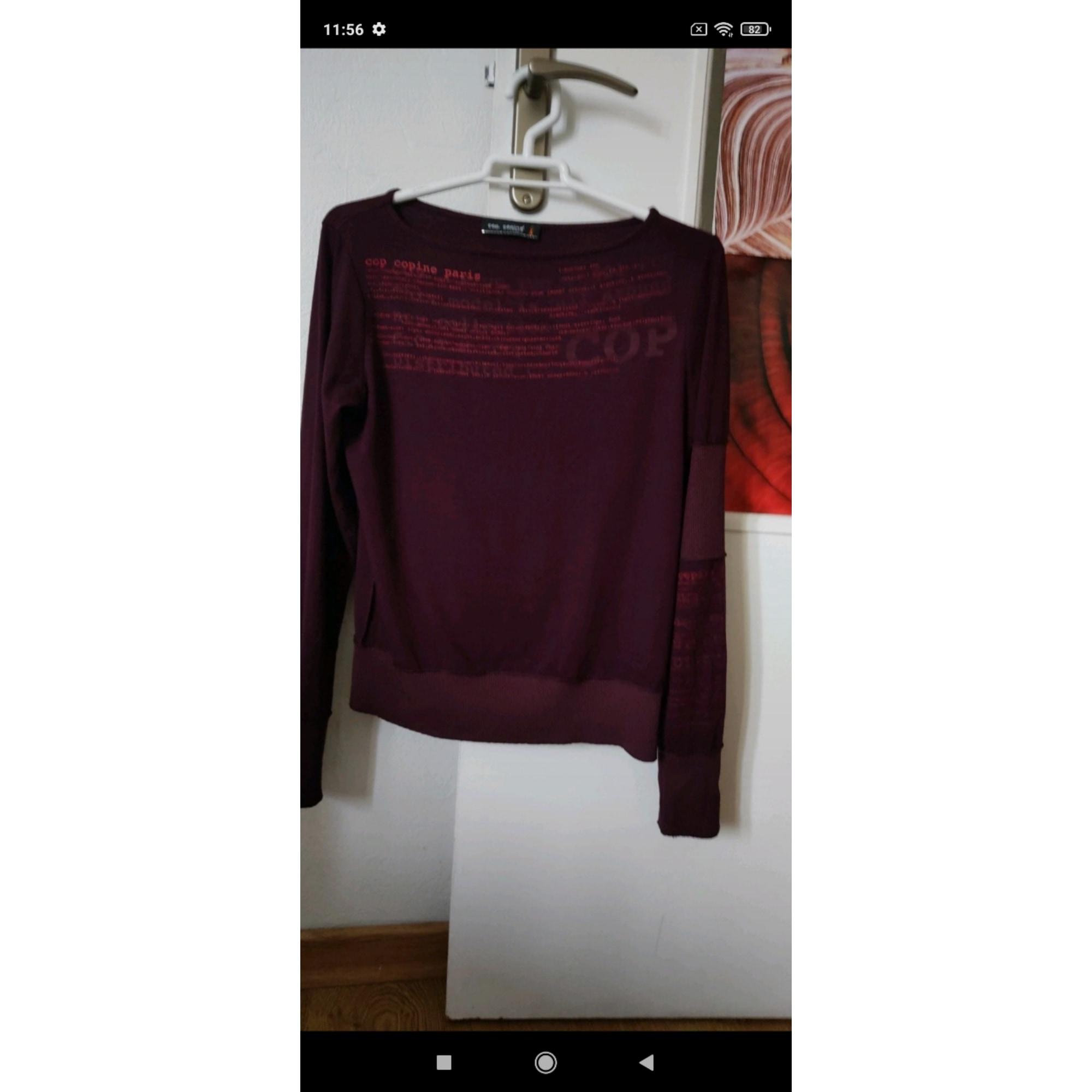 Top, tee-shirt COP-COPINE Violet, mauve, lavande