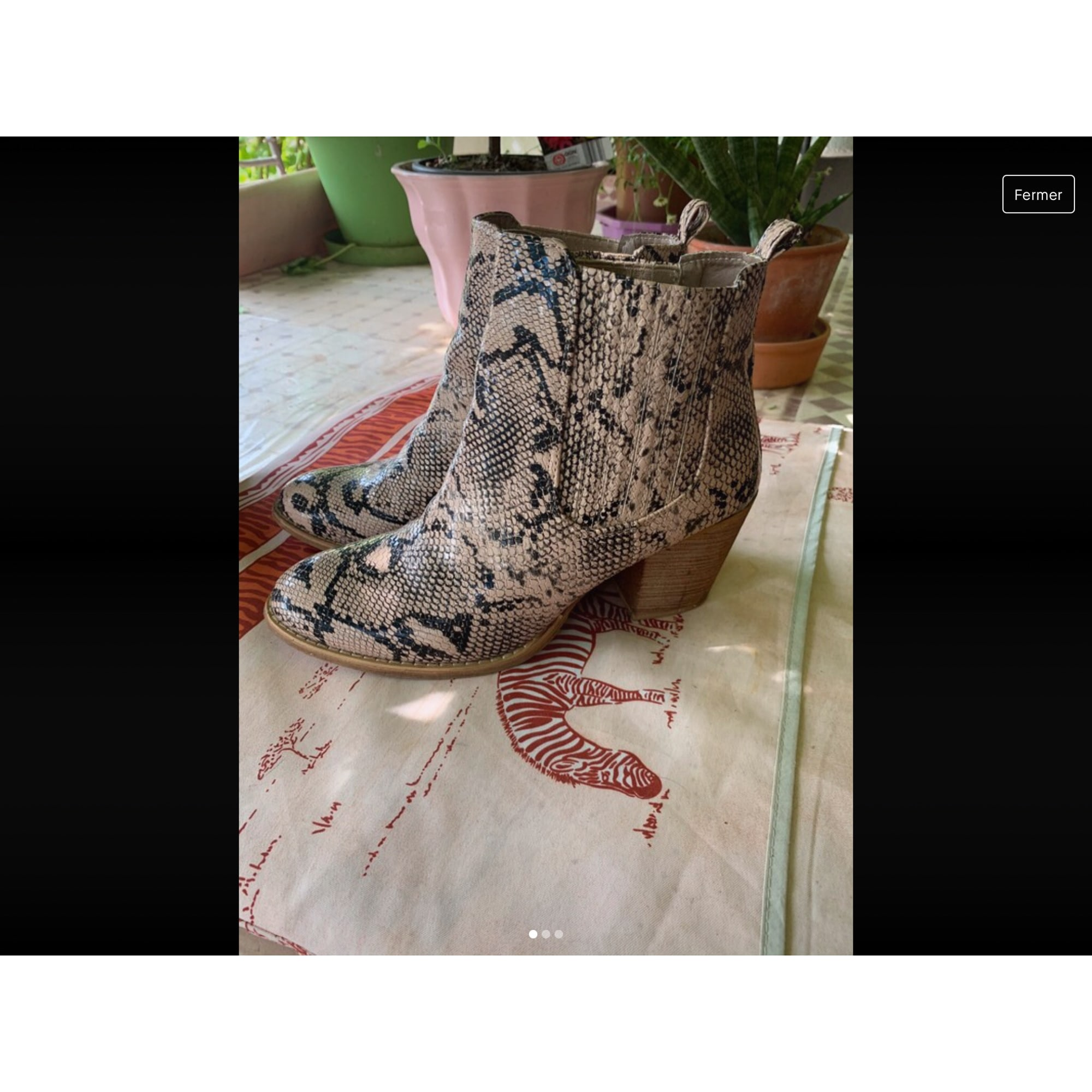Bottines & low boots à talons LIBERTO Rose, fuschia, vieux rose