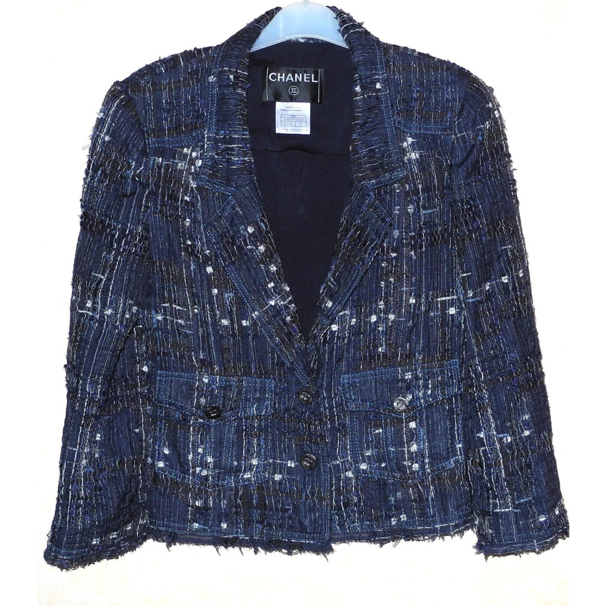 Blazer, veste tailleur CHANEL Bleu, bleu marine, bleu turquoise