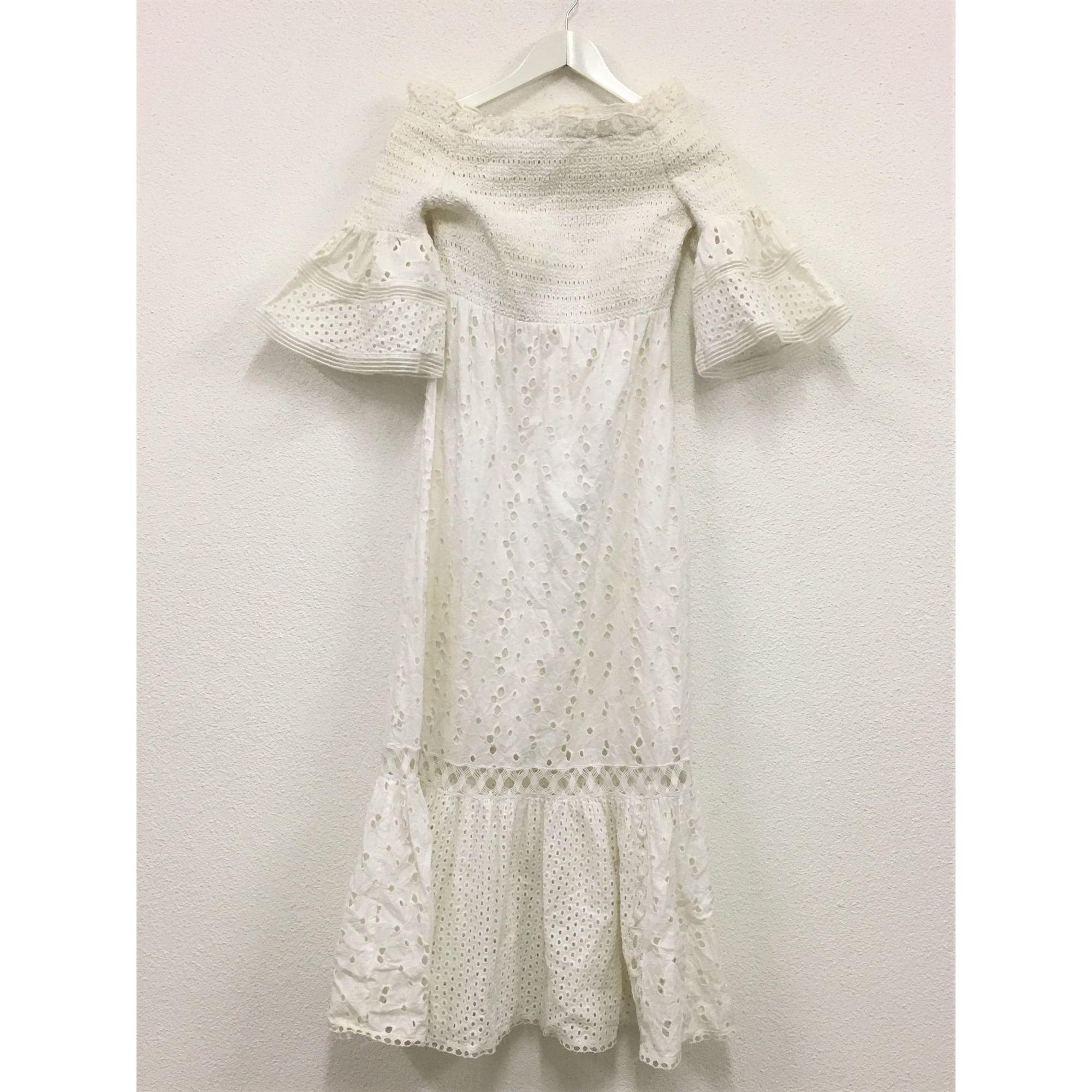 Robe mi-longue MARIA GRAZIA SEVERI Blanc, blanc cassé, écru