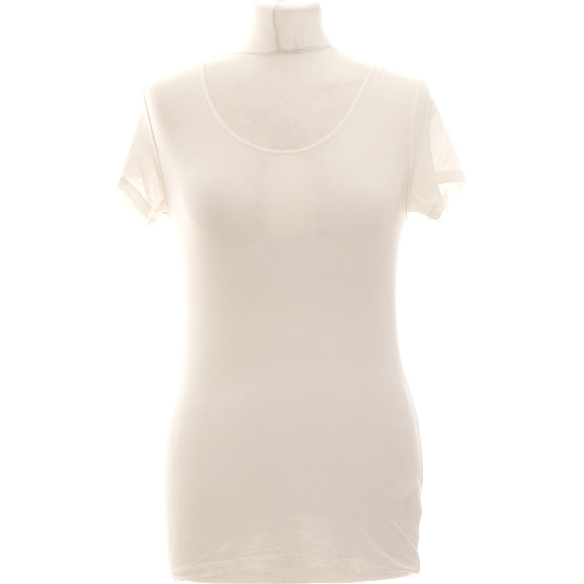 Top, tee-shirt UNIQLO Blanc, blanc cassé, écru