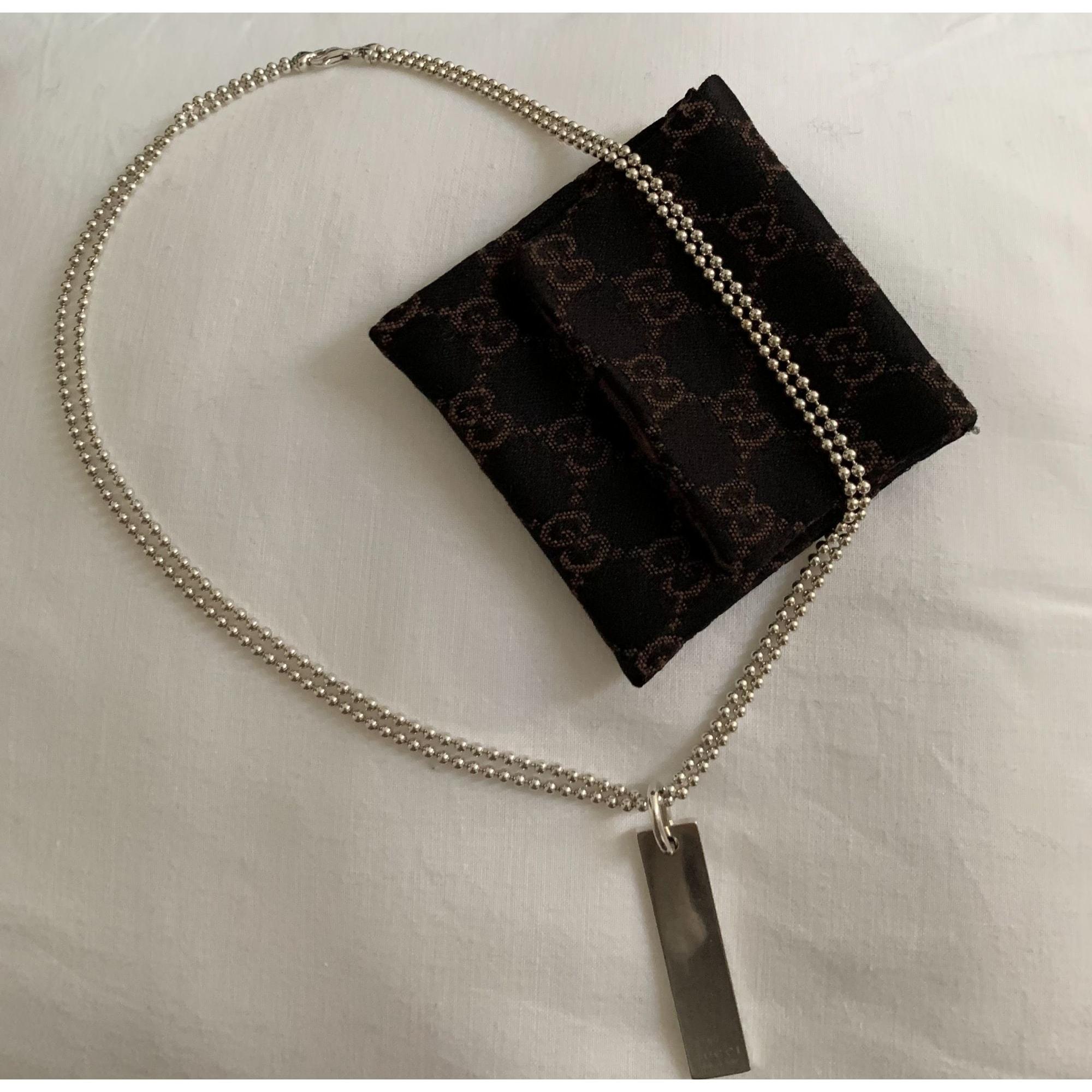 Pendant, Pendant Necklace GUCCI Silver