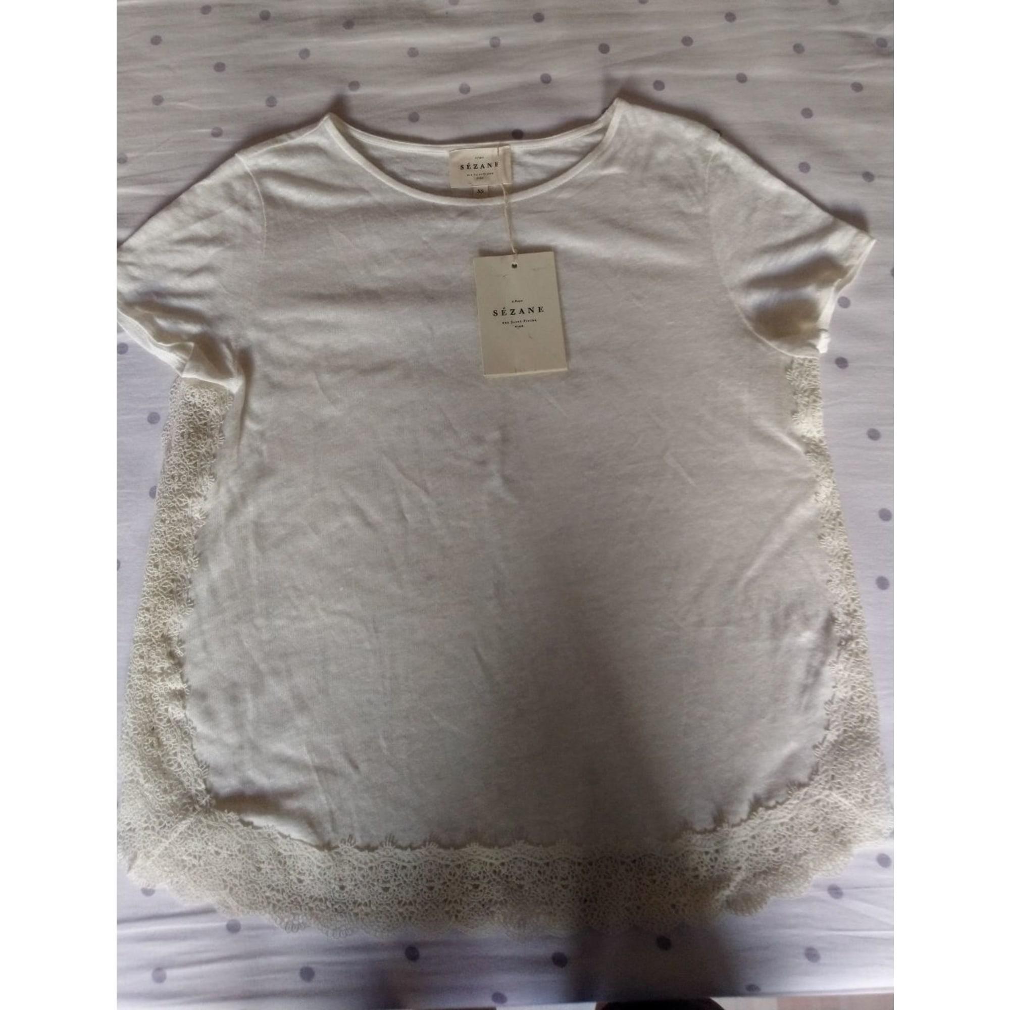 Top, tee-shirt SÉZANE Blanc, blanc cassé, écru