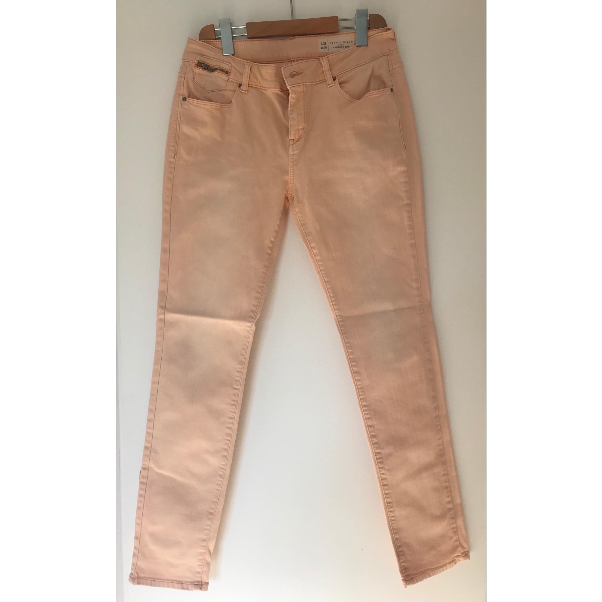 Pantalon droit ESPRIT Saumon