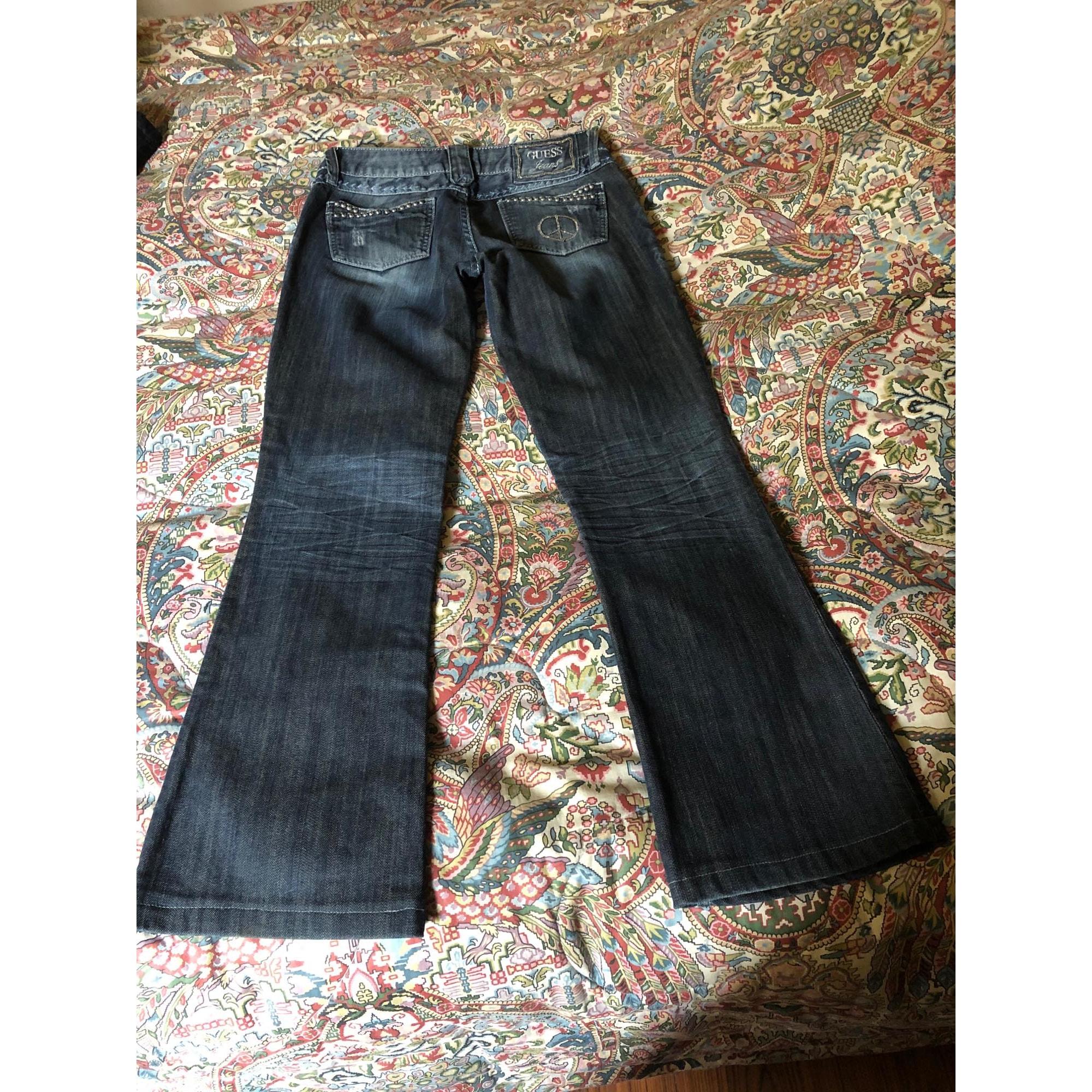 Jeans évasé, boot-cut GUESS Bleu, bleu marine, bleu turquoise