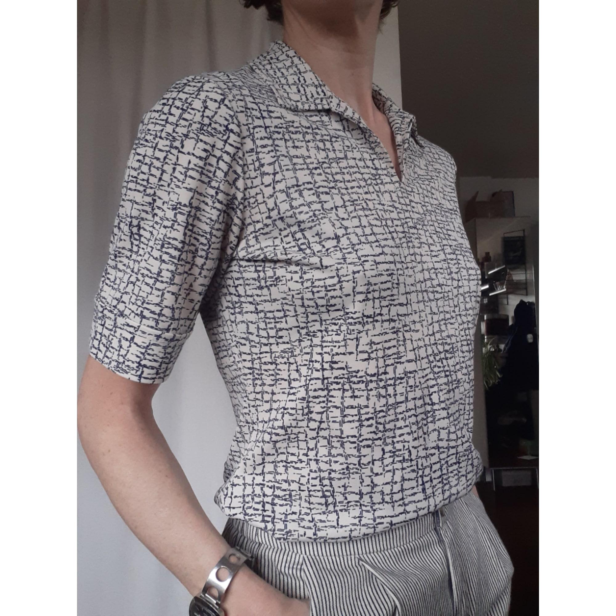 Top, tee-shirt MARQUE INCONNUE VINTAGE Blanc, blanc cassé, écru