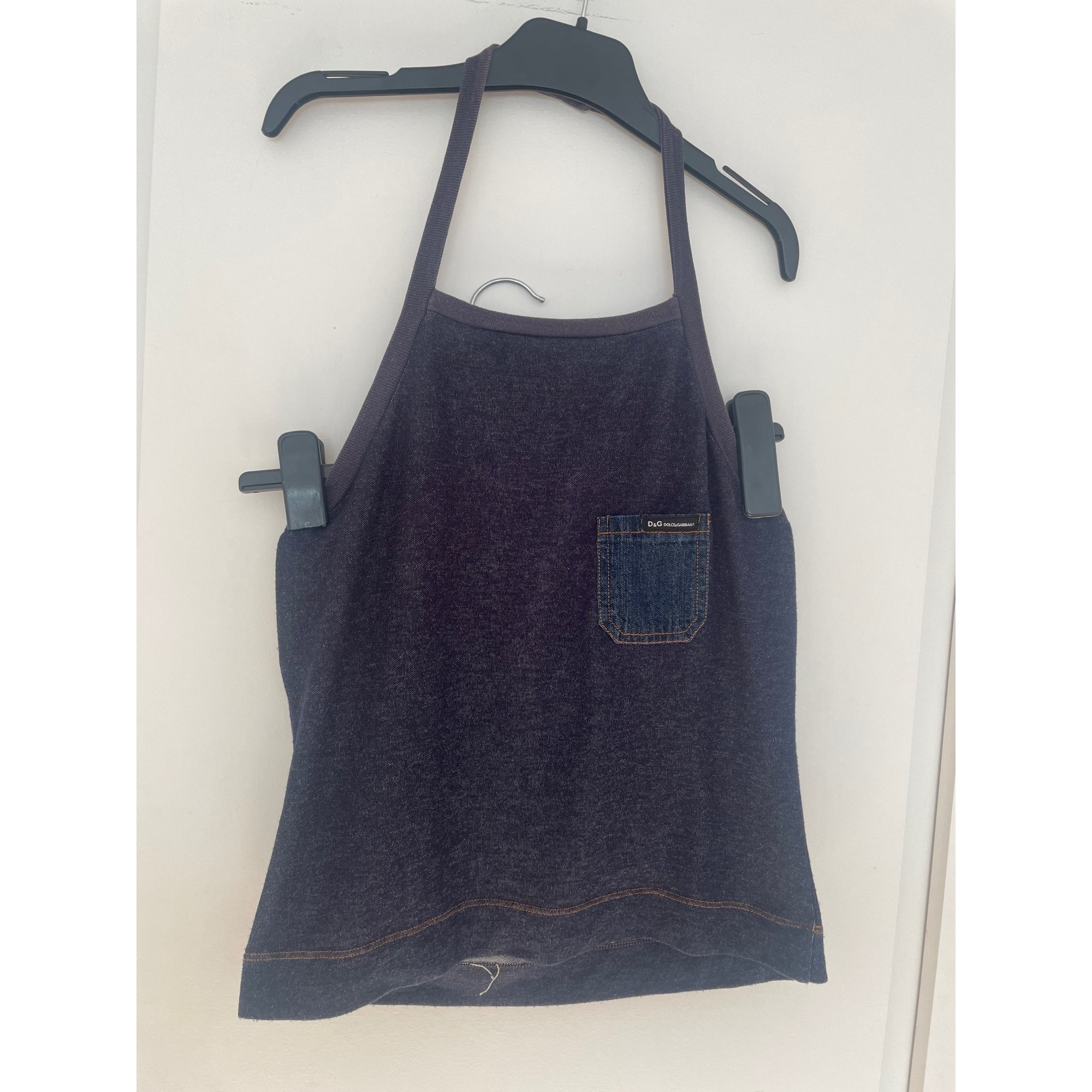Top, tee-shirt DOLCE & GABBANA Bleu, bleu marine, bleu turquoise