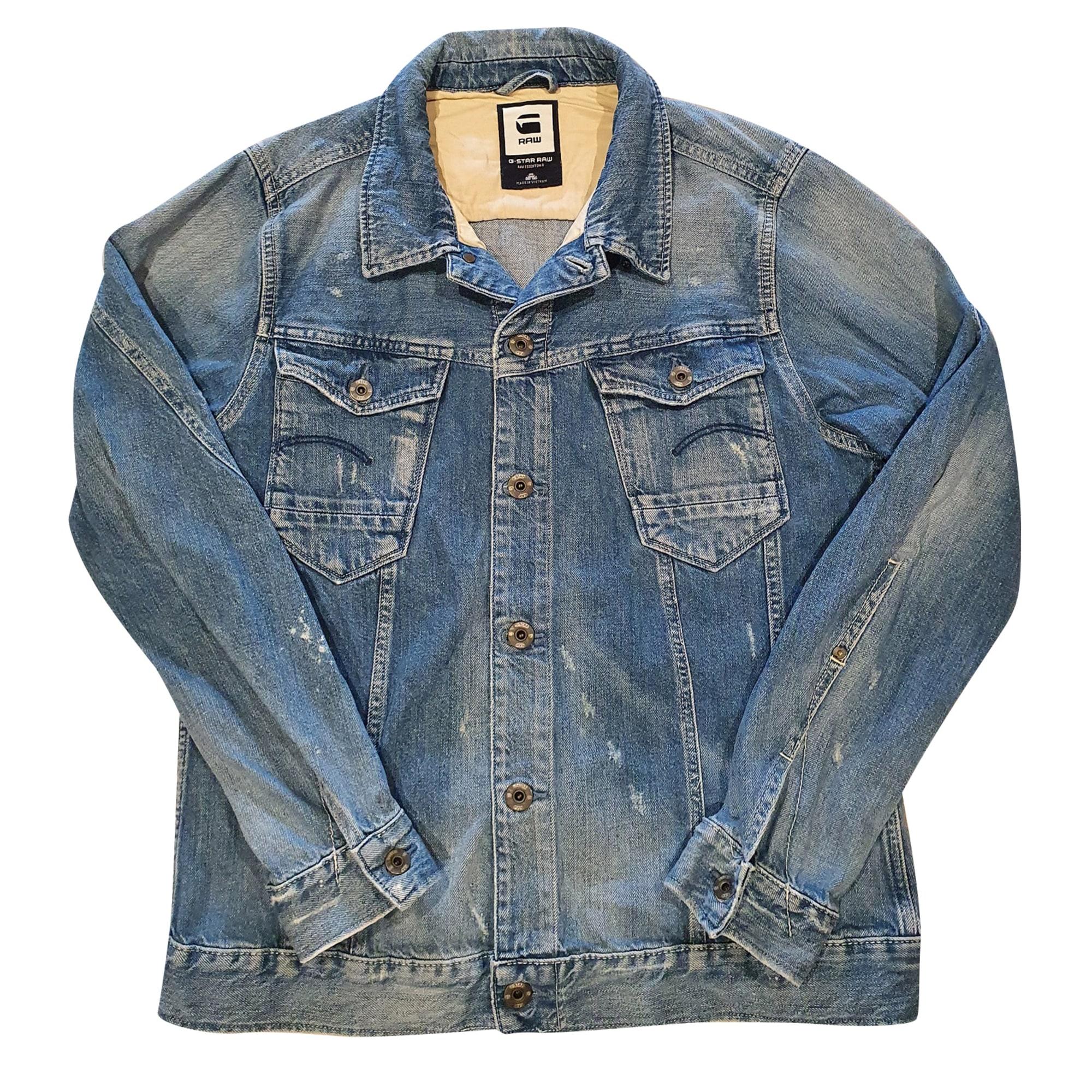 Denim Zipped Jacket G-STAR Blue, navy, turquoise