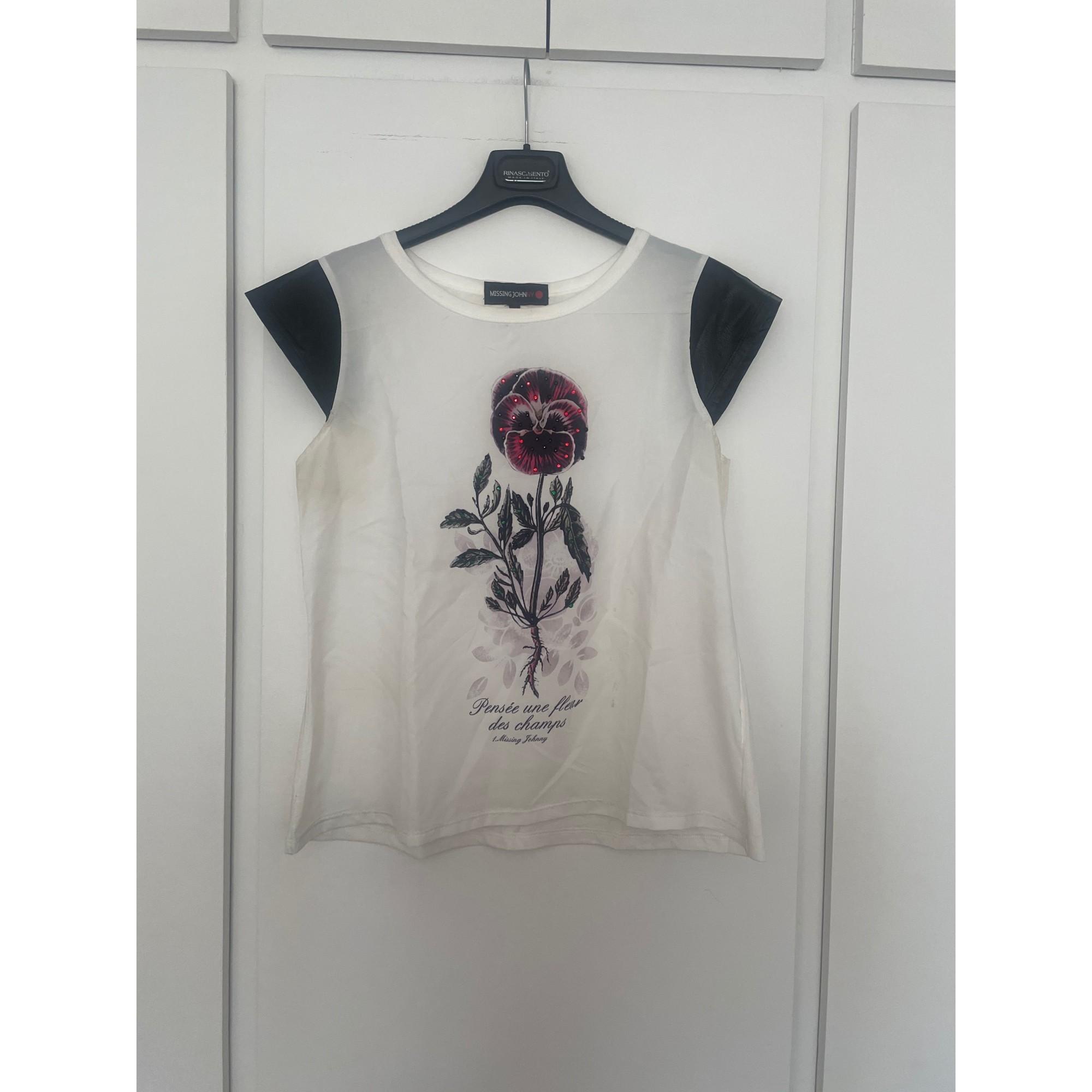 Top, tee-shirt MISSING JONNY Blanc, blanc cassé, écru