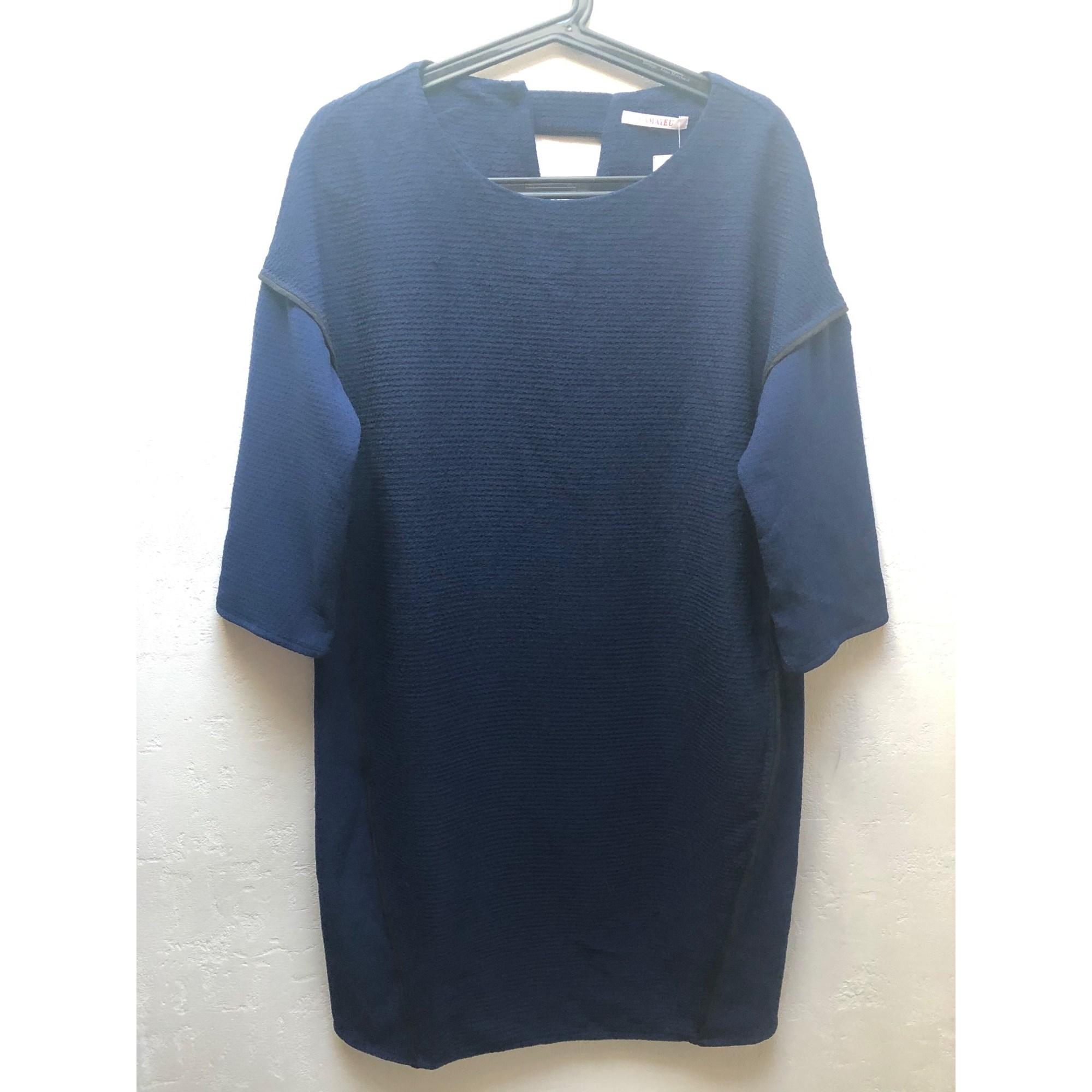 Robe mi-longue CAMAIEU Bleu, bleu marine, bleu turquoise