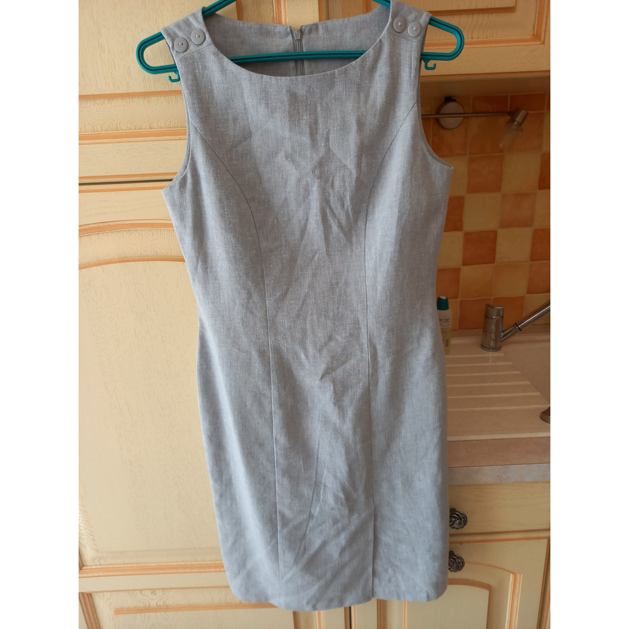 Robe mi-longue MARQUE INCONNUE Gris, anthracite