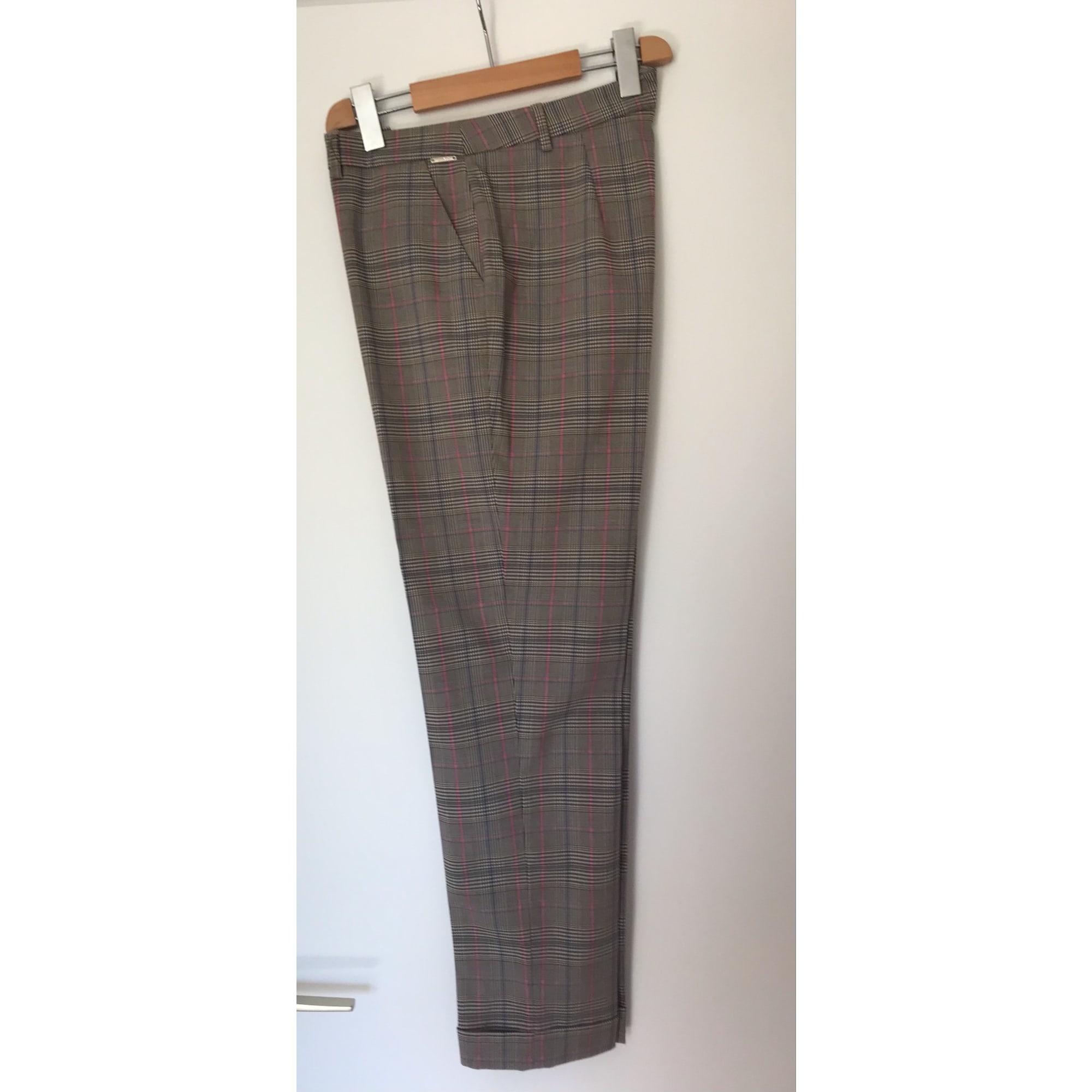 Pantalon droit LUI JO Gris, anthracite