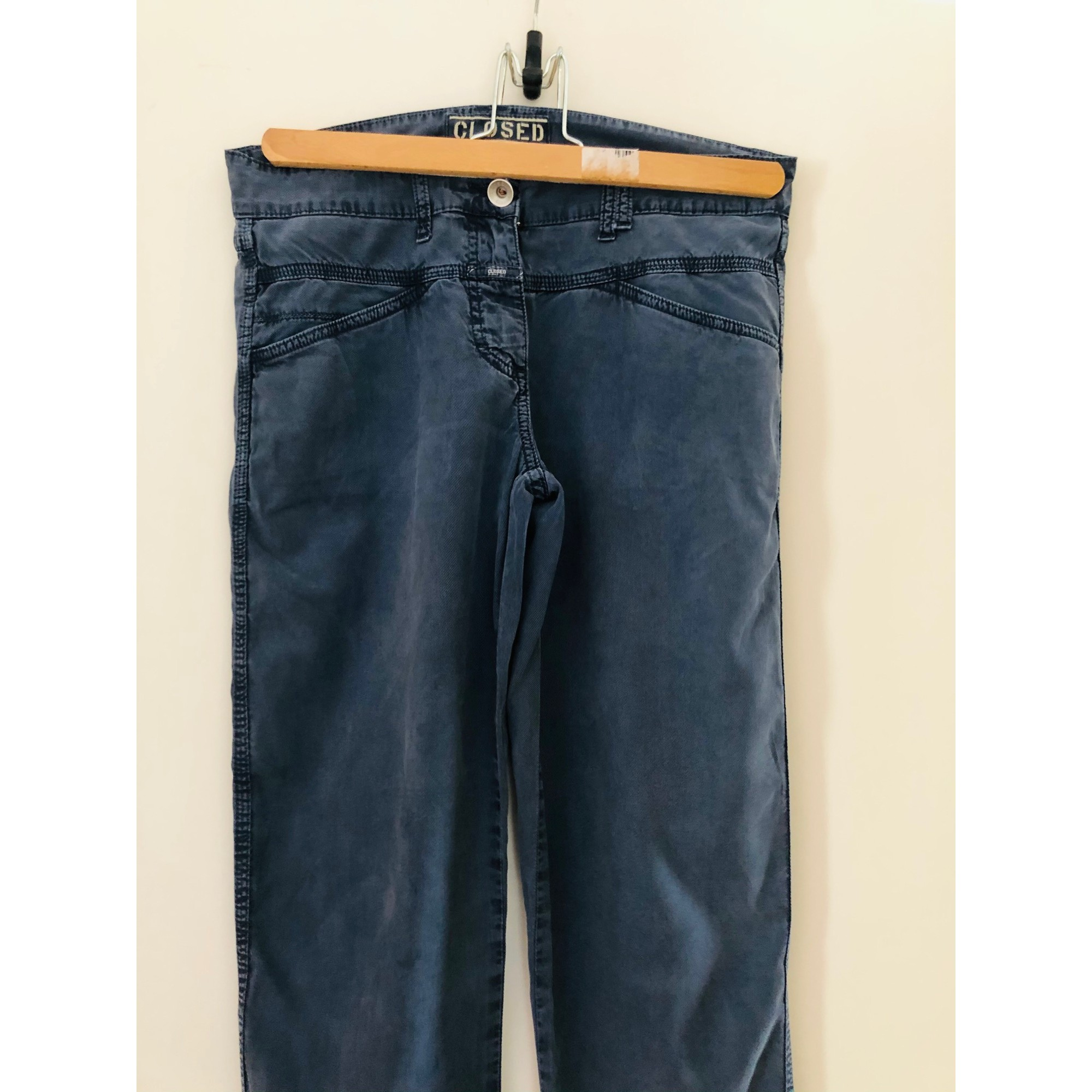 Jeans droit CLOSED Bleu, bleu marine, bleu turquoise