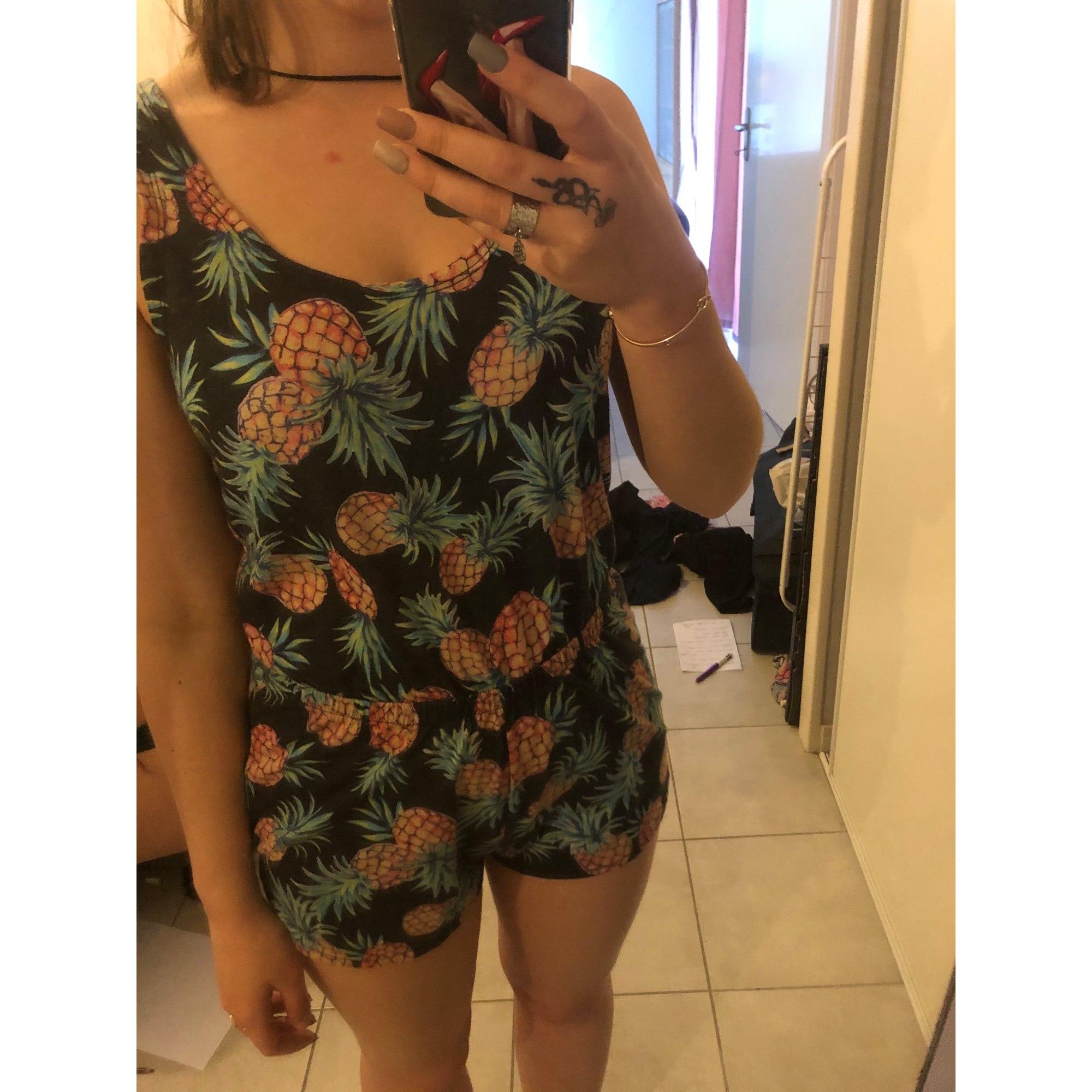 Combishort JENNYFER Vert imprimé ananas