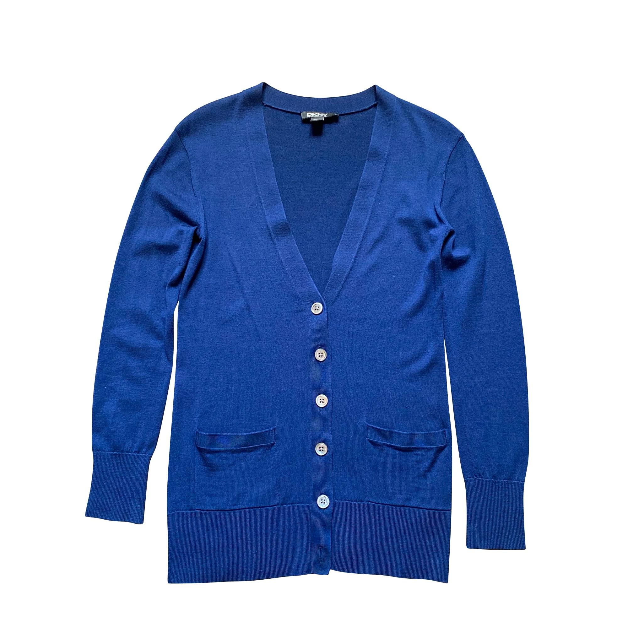 Gilet, cardigan DKNY Bleu, bleu marine, bleu turquoise