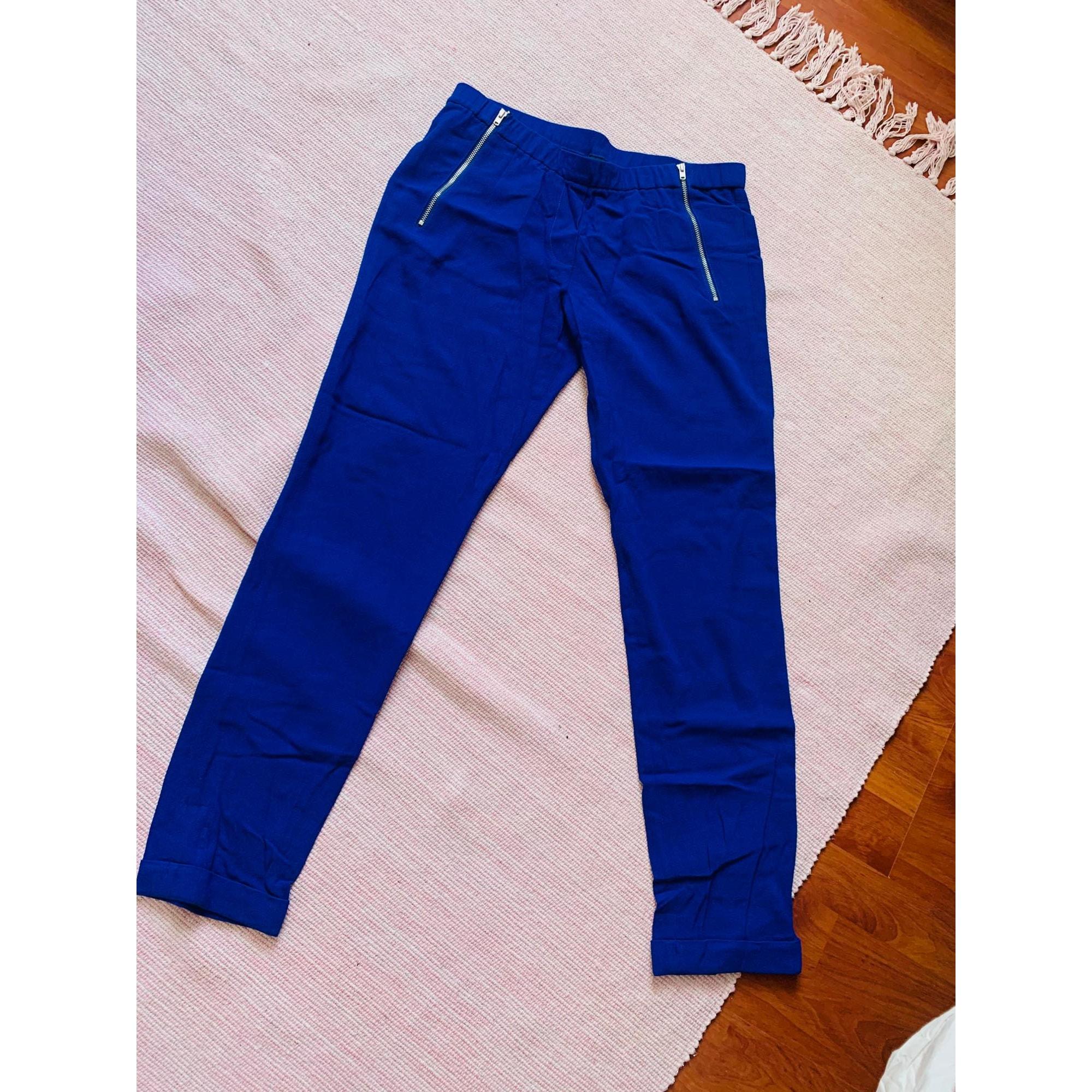 Pantalon droit THE KOOPLES Bleu, bleu marine, bleu turquoise