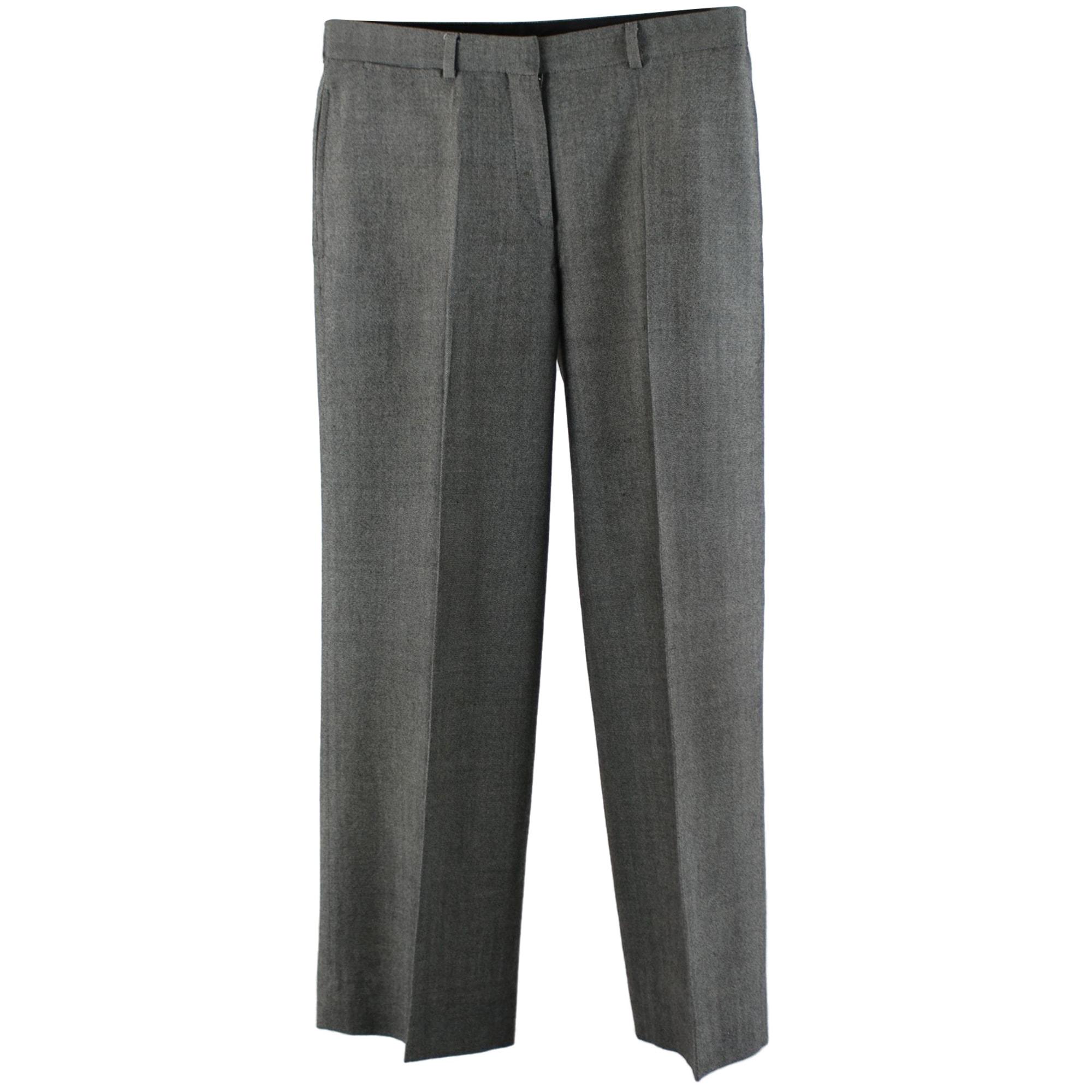 Pantalon droit KENZO Gris, anthracite