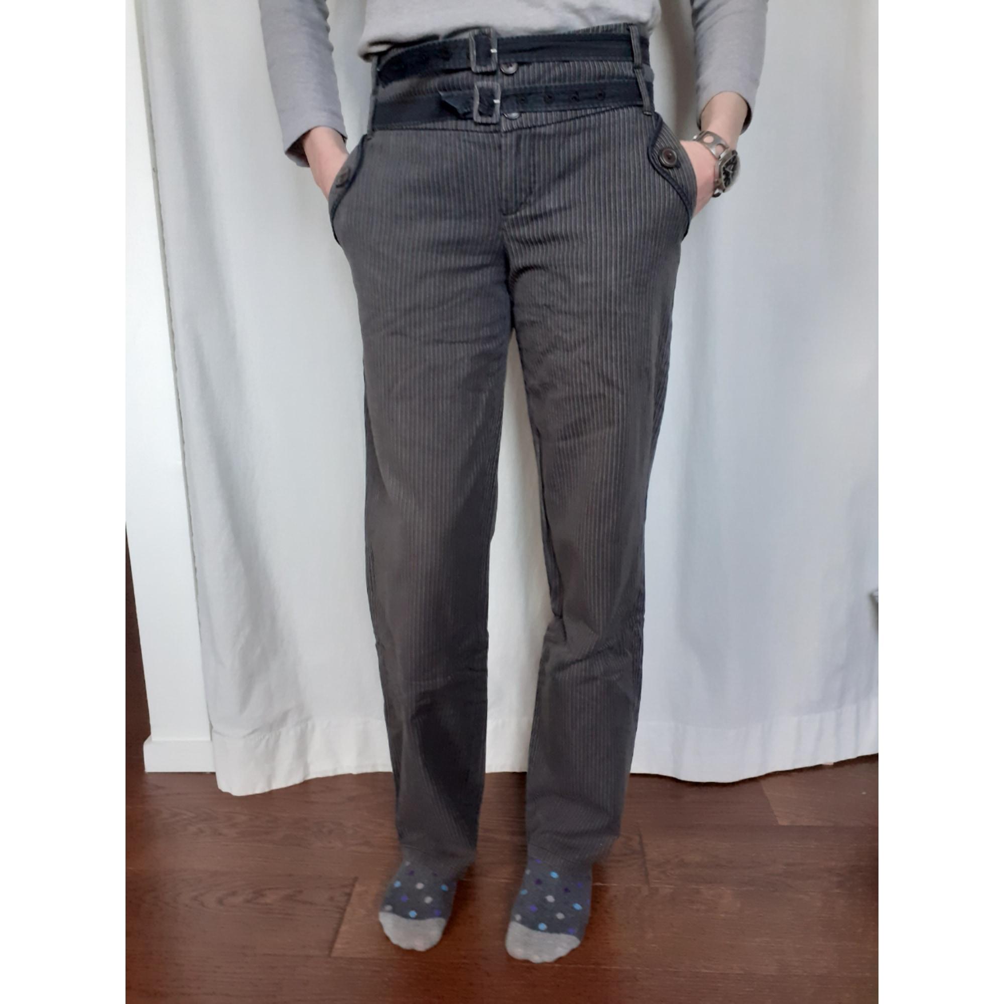 Pantalon droit MARQUE INCONNUE Gris, anthracite