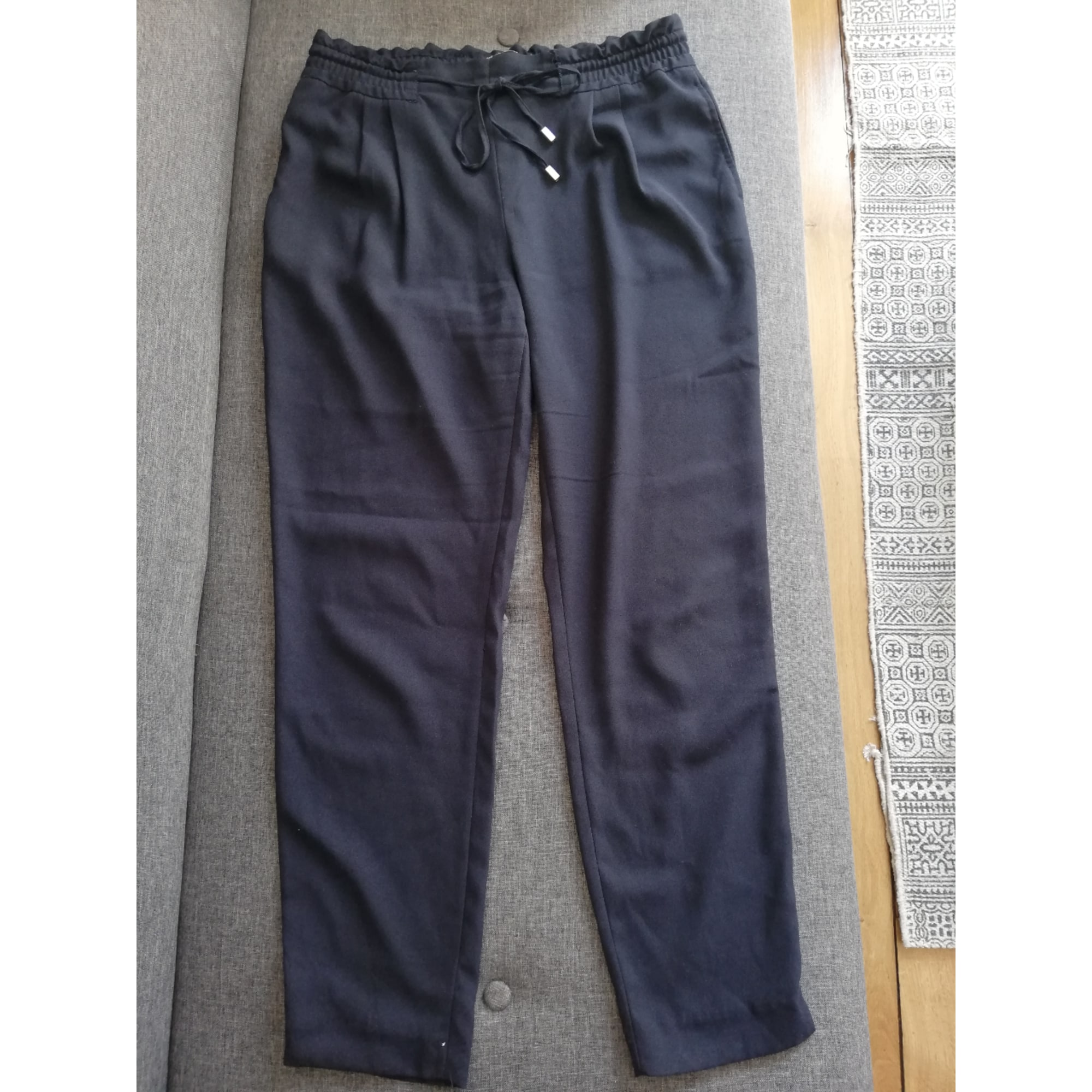 Pantalon droit ZARA Bleu, bleu marine, bleu turquoise