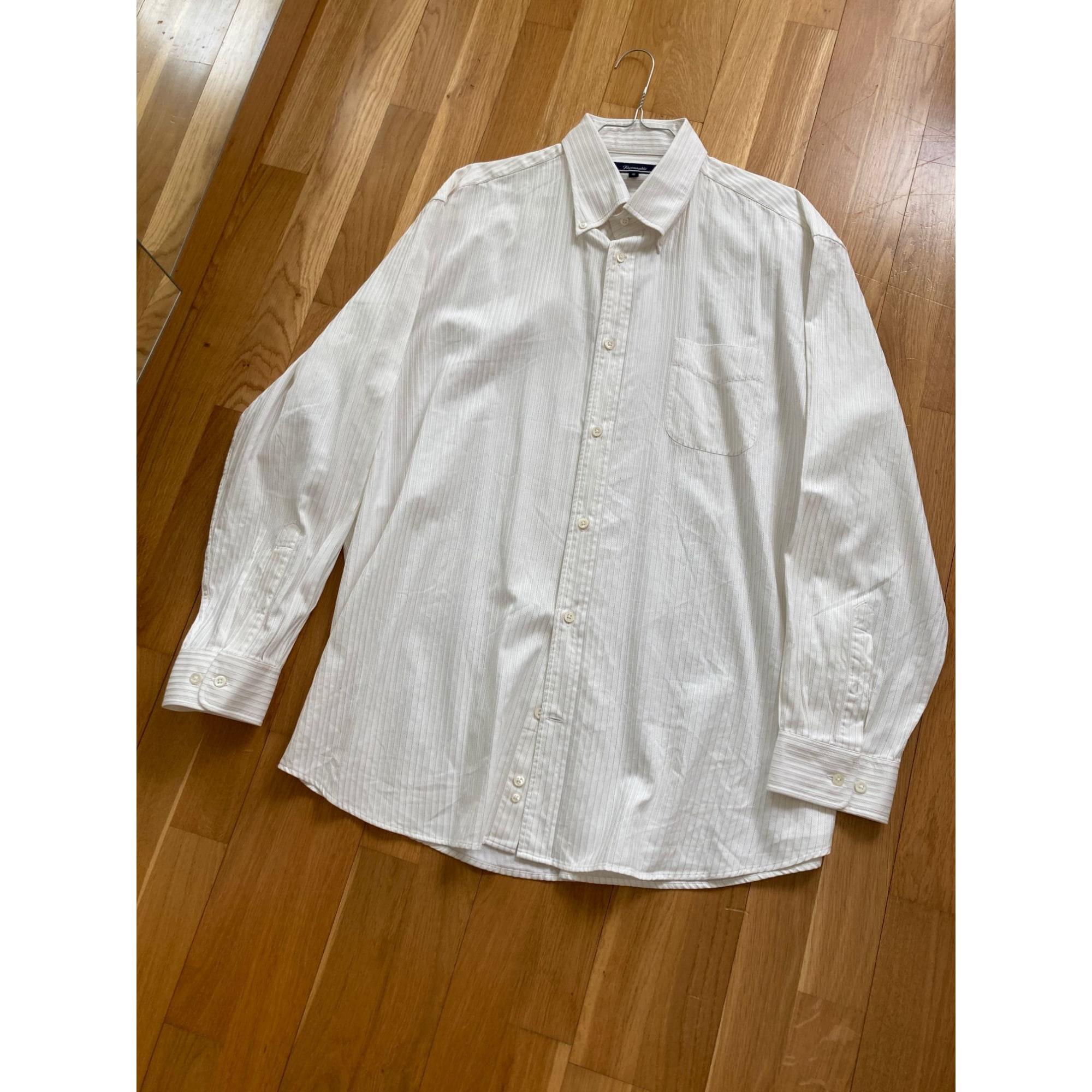Chemise FAÇONNABLE Blanc, blanc cassé, écru