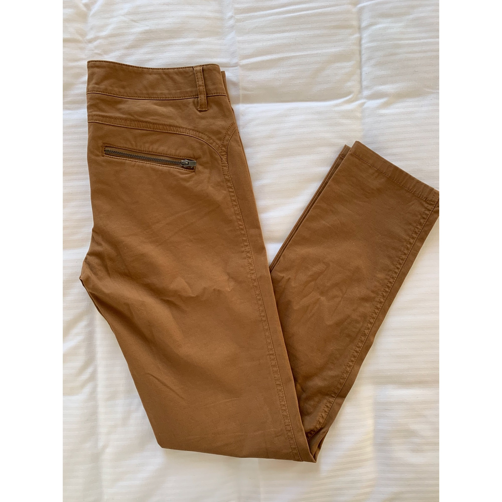 Pantalon slim, cigarette STEFANEL Beige, camel