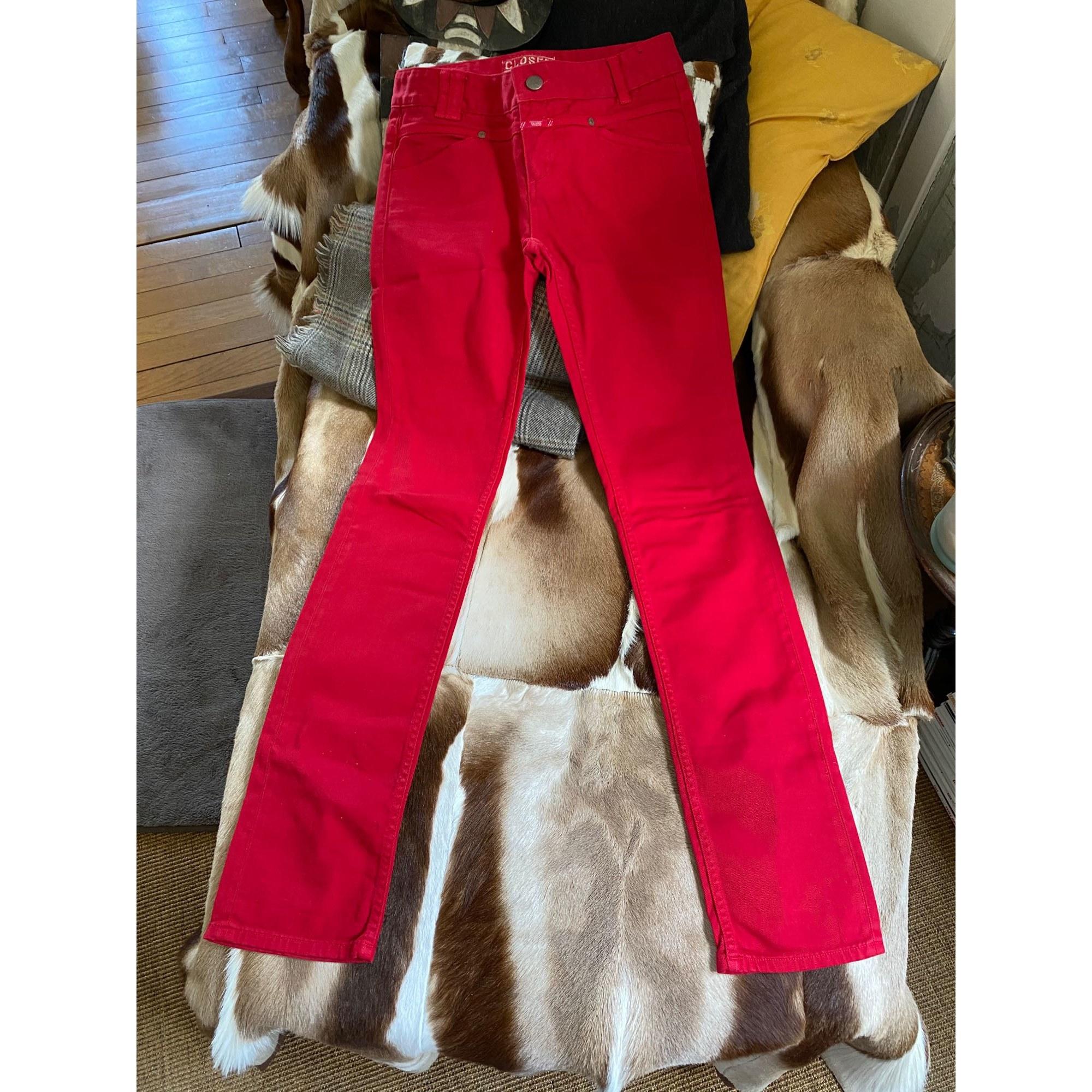 Jeans droit CLOSED Rouge, bordeaux