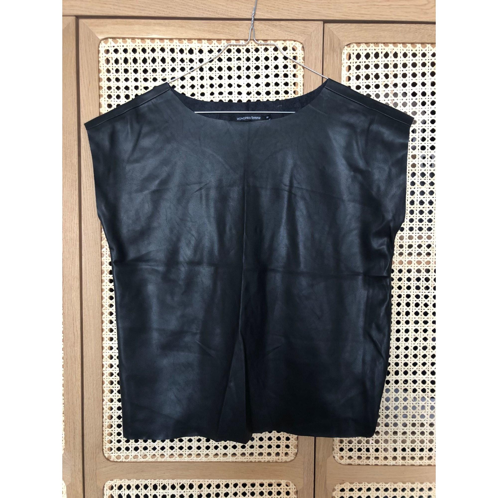 Top, tee-shirt MONOPRIX Noir