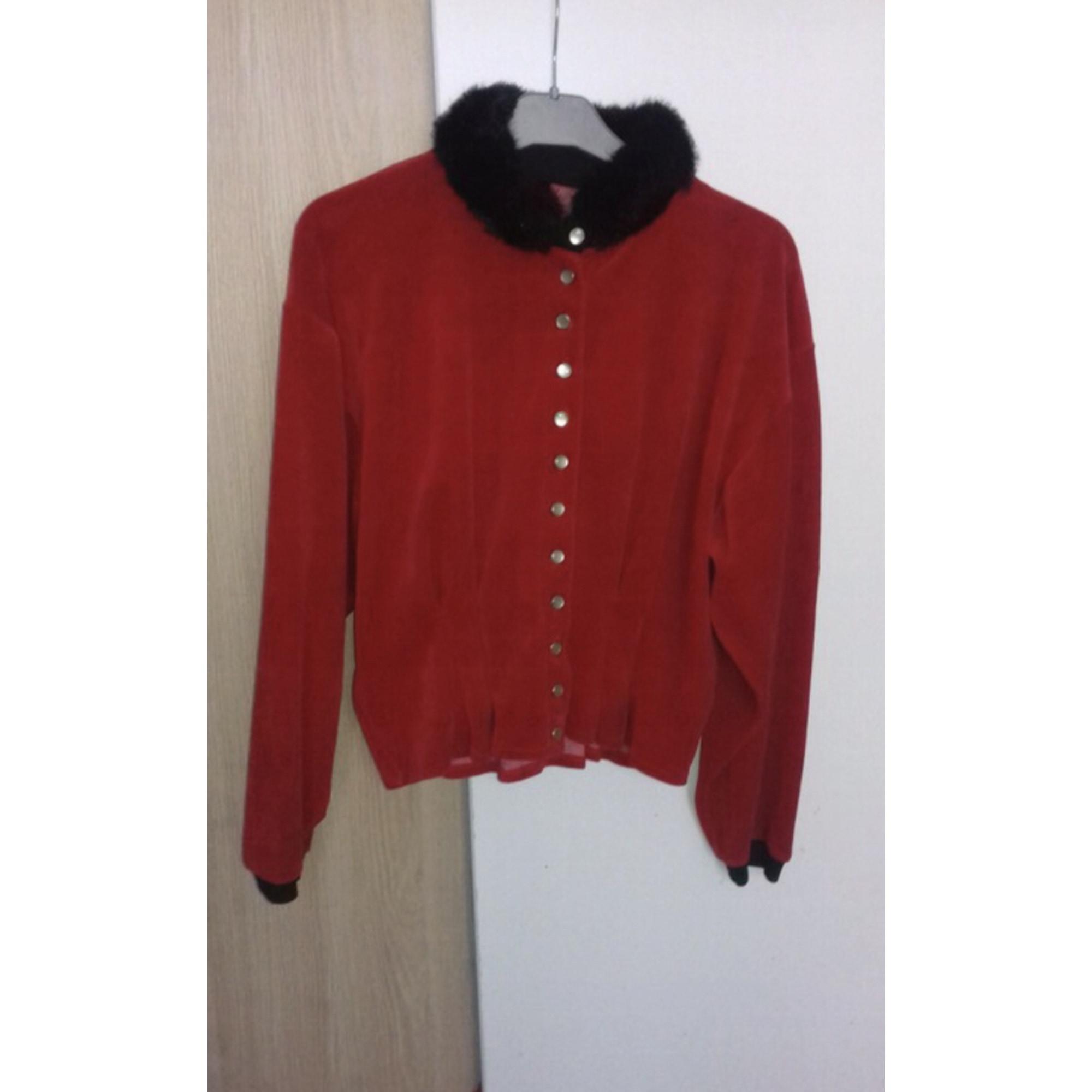 Blouson, veste en fourrure PIMKIE Rouge, bordeaux