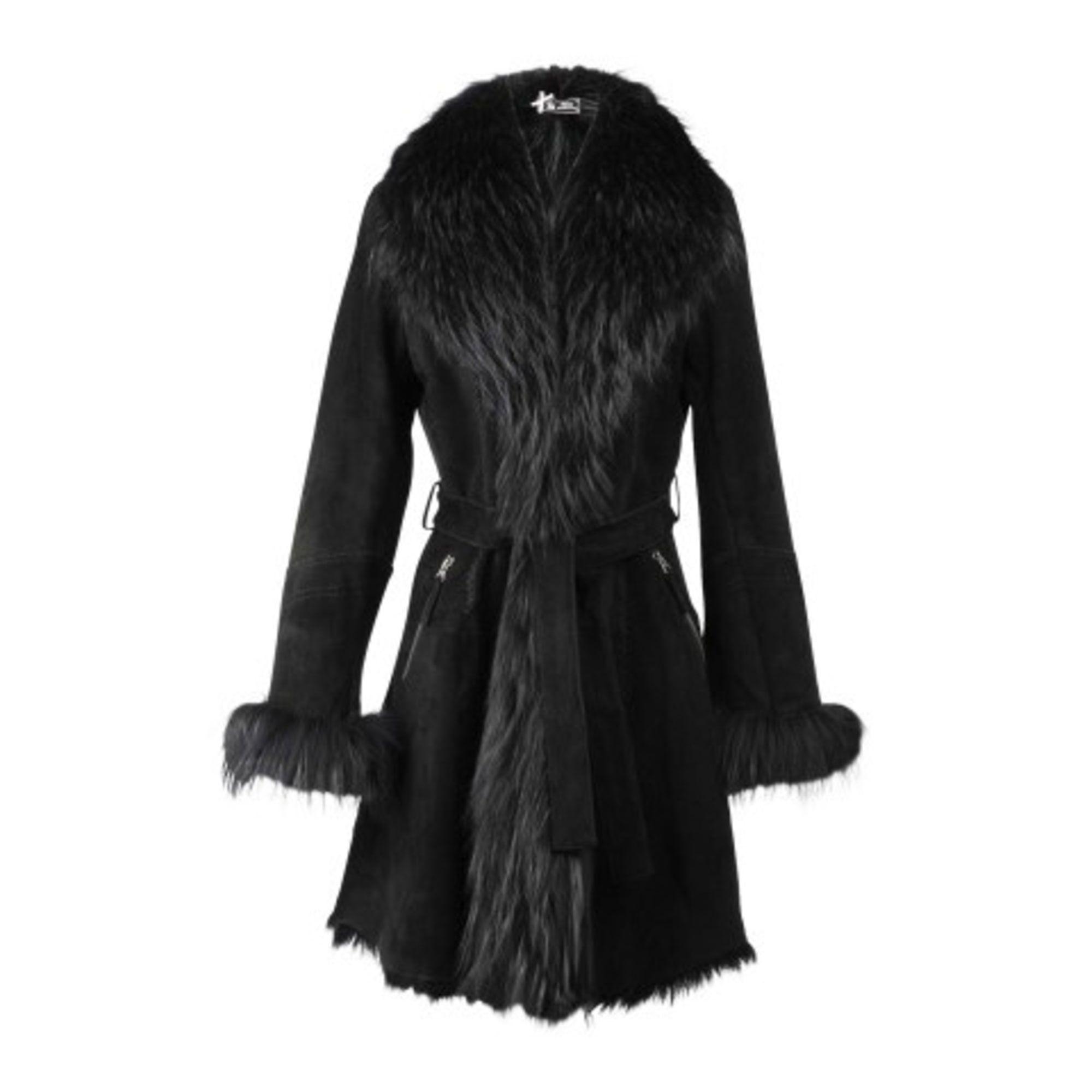 Manteau en fourrure SINÉQUANONE Noir