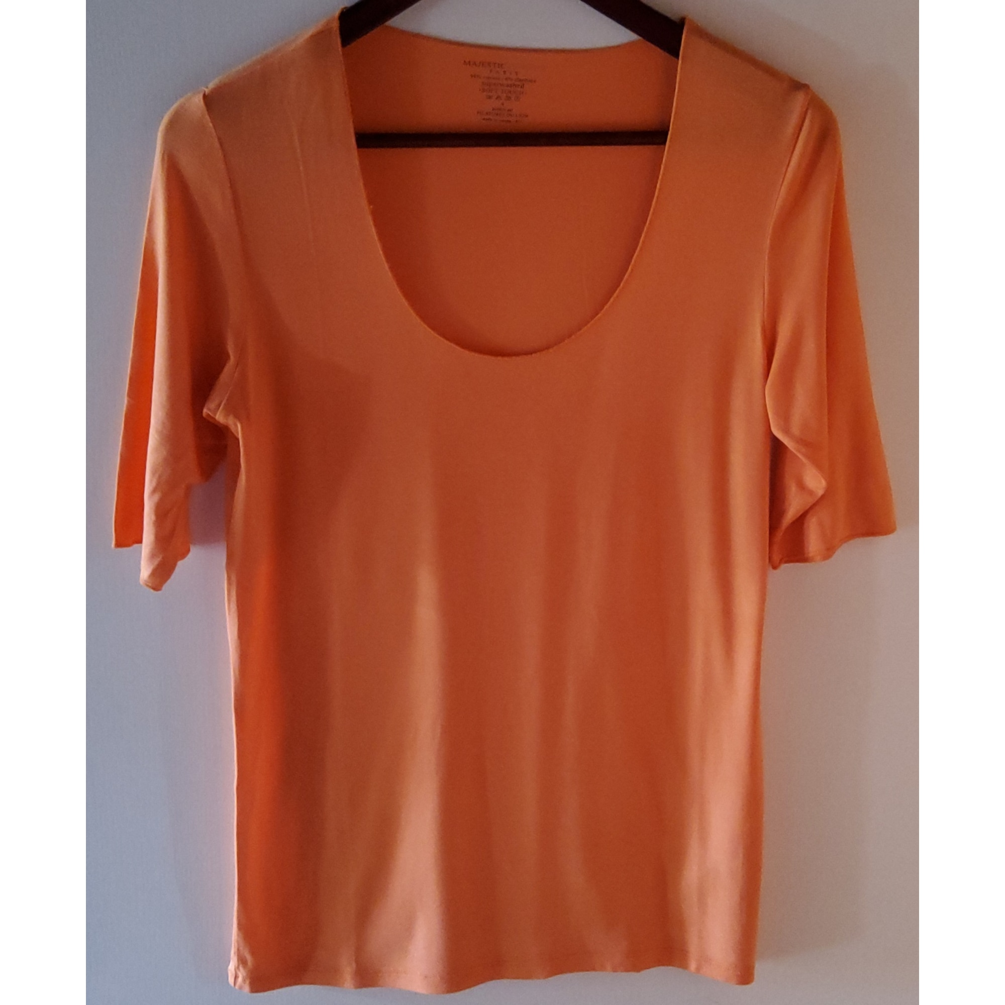 Top, tee-shirt MAJESTIC Orange