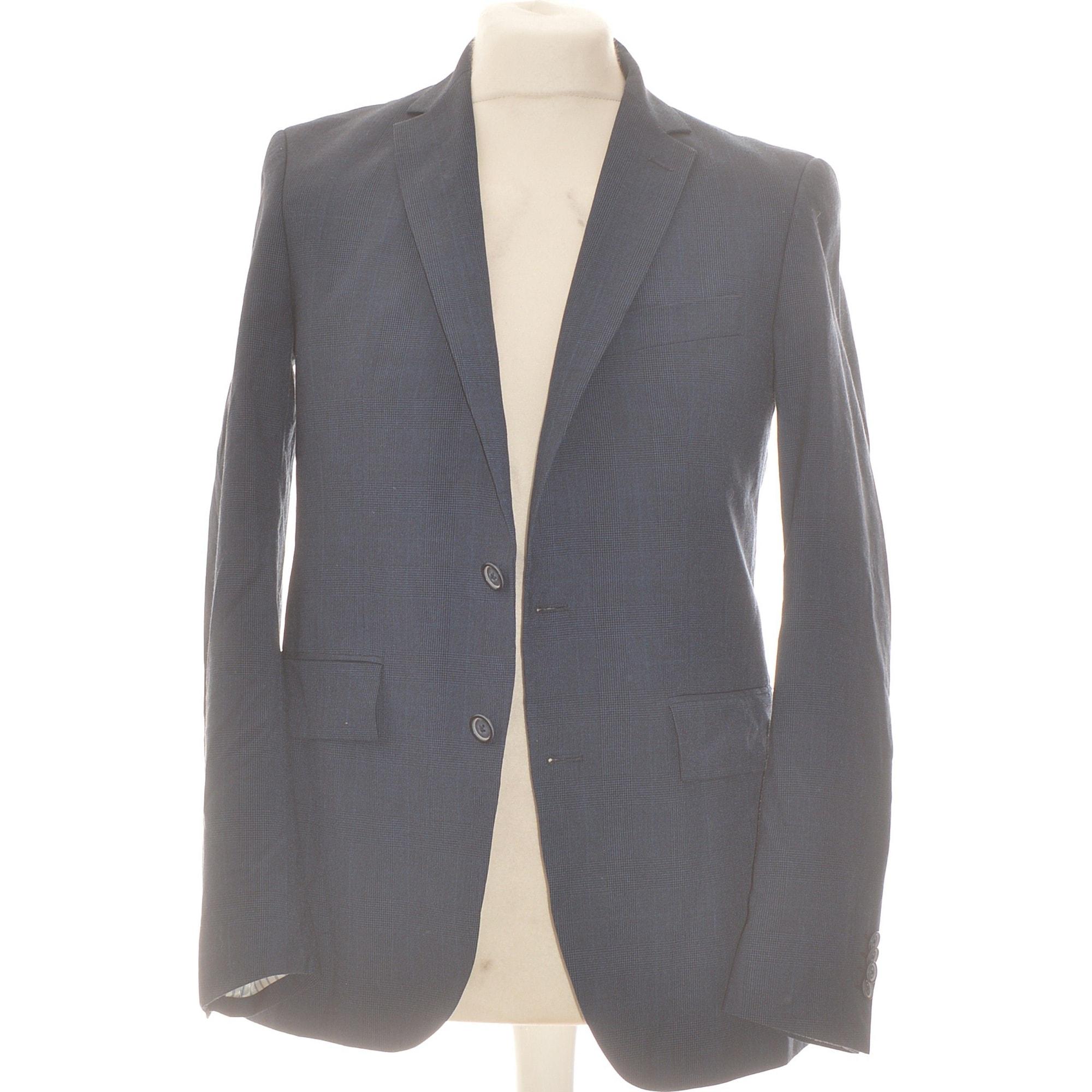 Veste de costume MANGO Bleu, bleu marine, bleu turquoise
