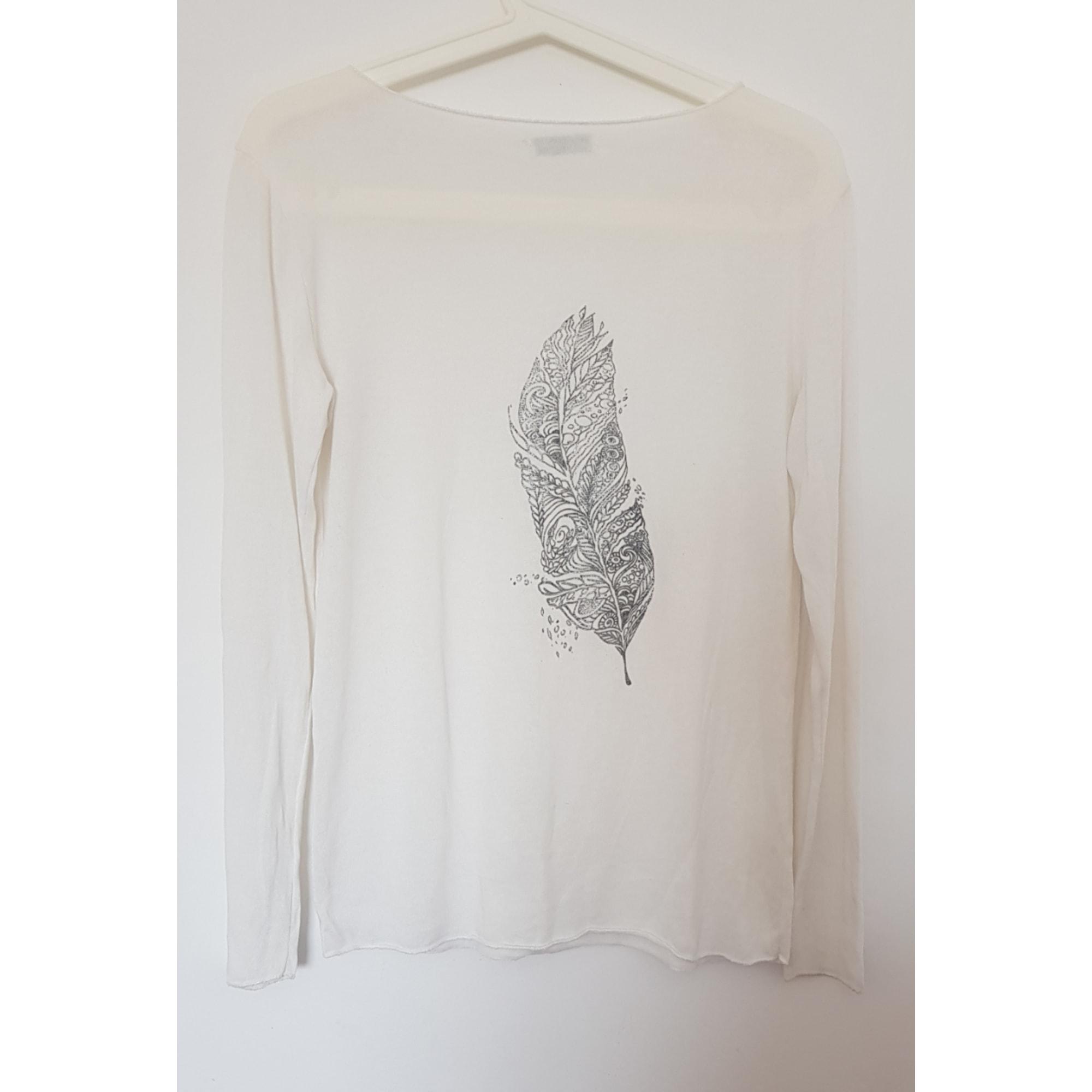Top, tee-shirt MADE IN ITALIE Blanc, blanc cassé, écru