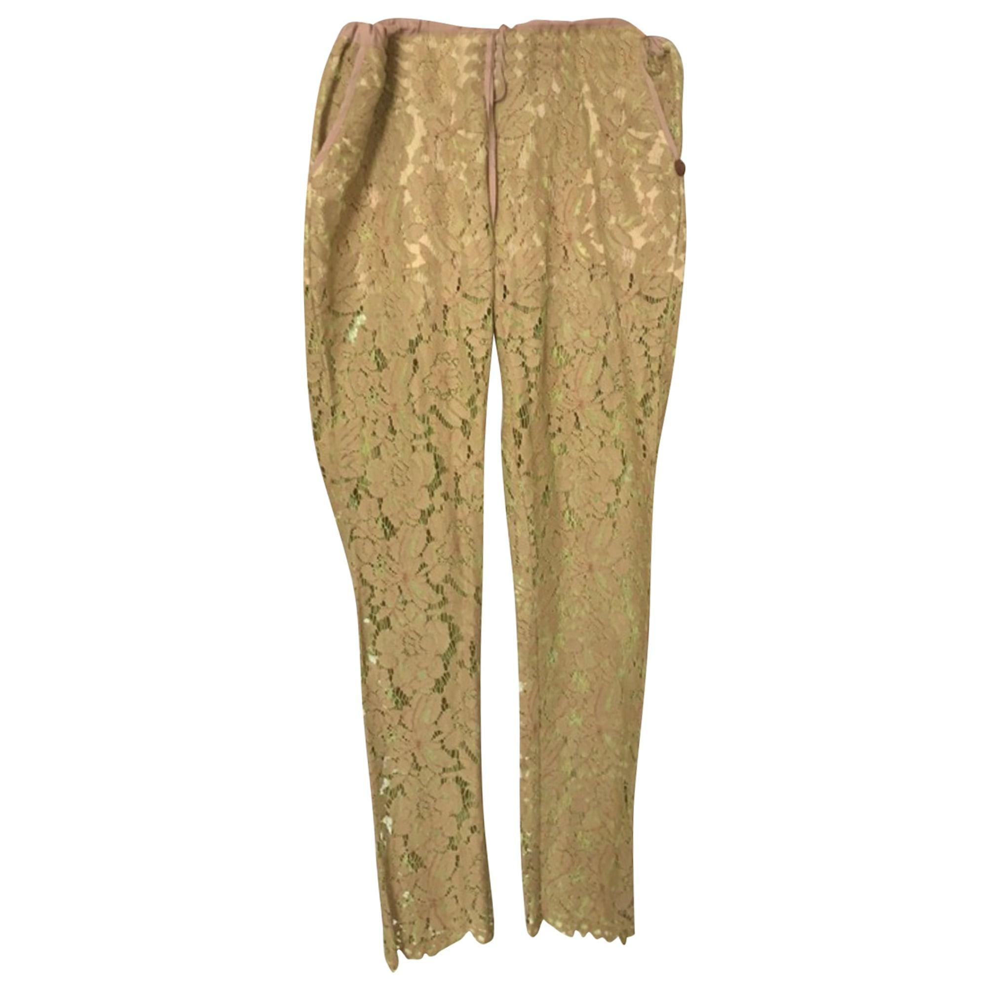 Pantalon droit TWIN-SET SIMONA BARBIERI Vert