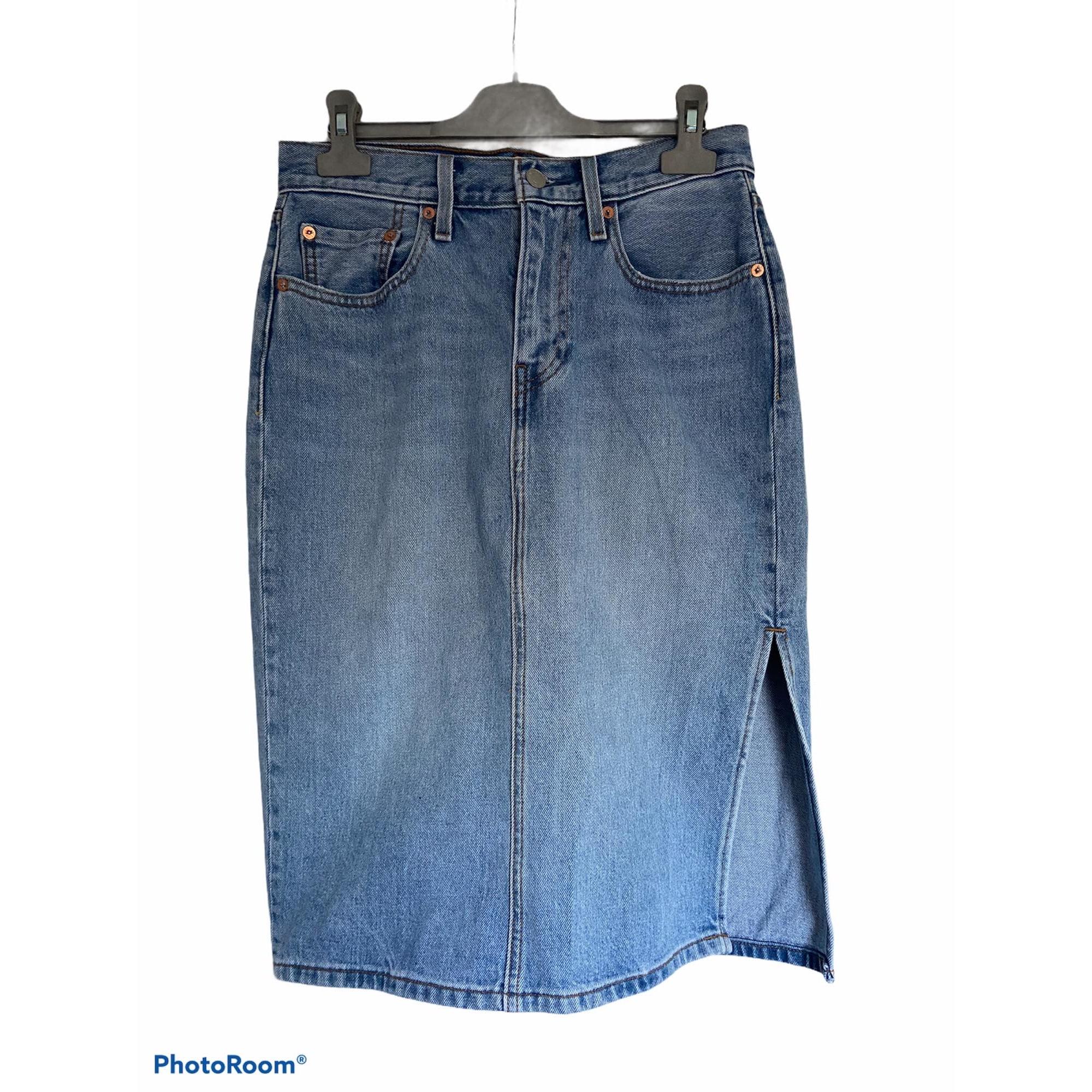 Jupe mi-longue LEVI'S Bleu, bleu marine, bleu turquoise