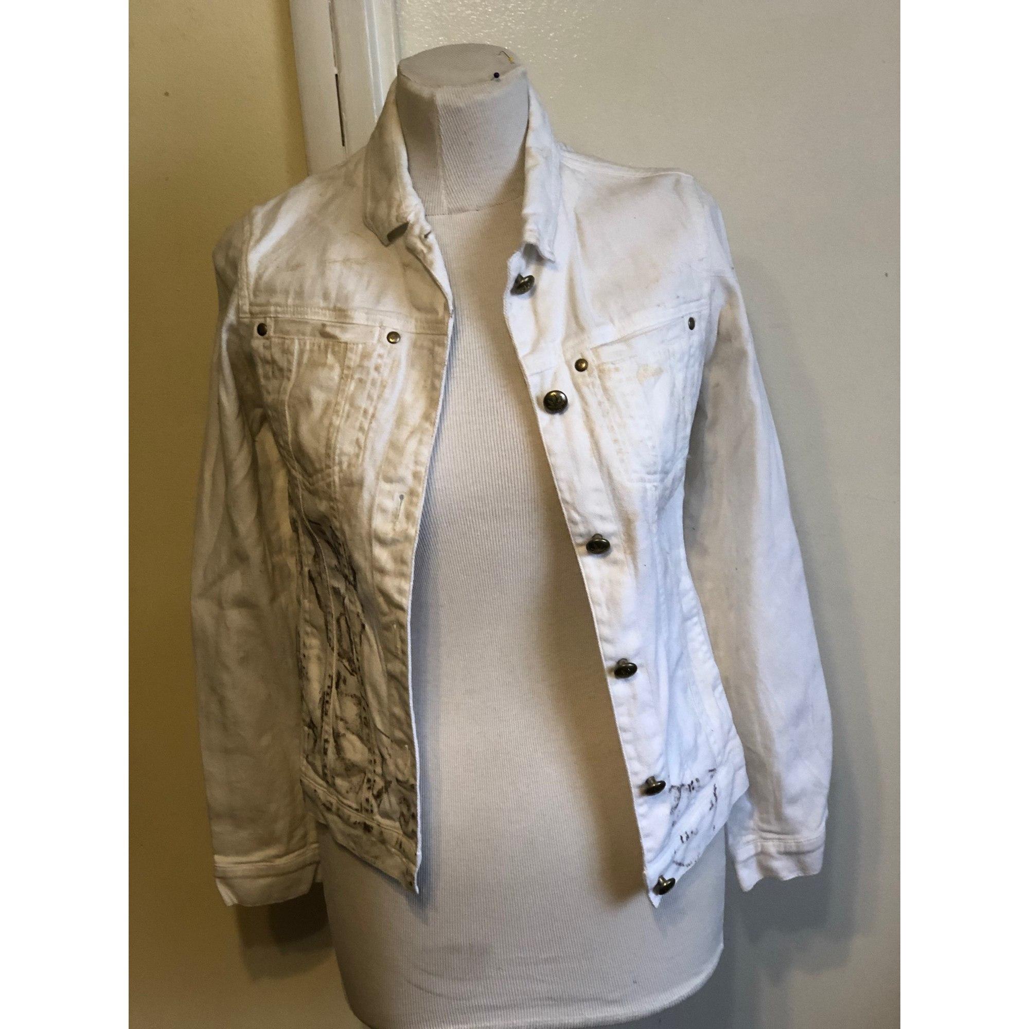 Veste en jean ZADIG & VOLTAIRE Blanc, blanc cassé, écru