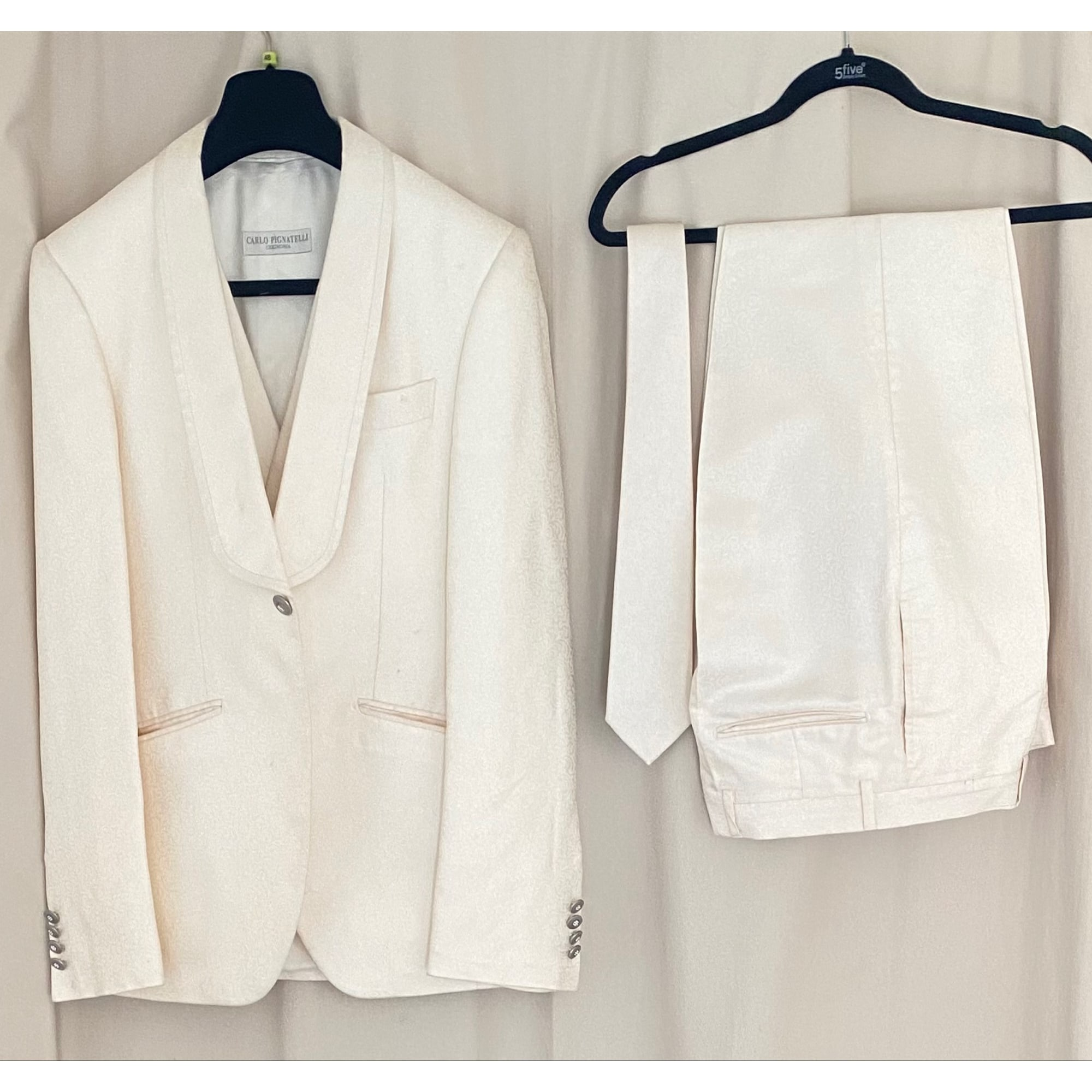 Costume complet CARLO PIGNATELLI Blanc, blanc cassé, écru