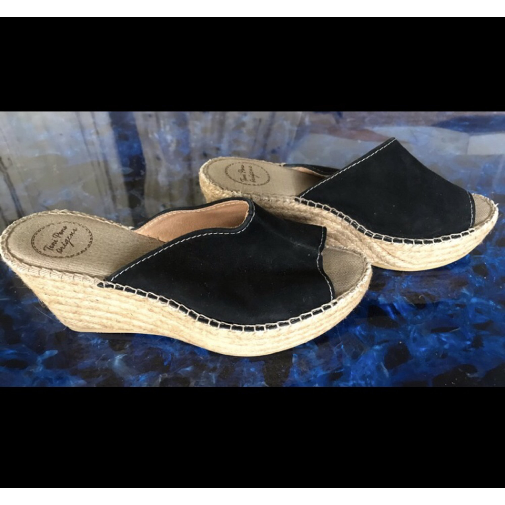 Sandales compensées TONI PONS Bleu, bleu marine, bleu turquoise