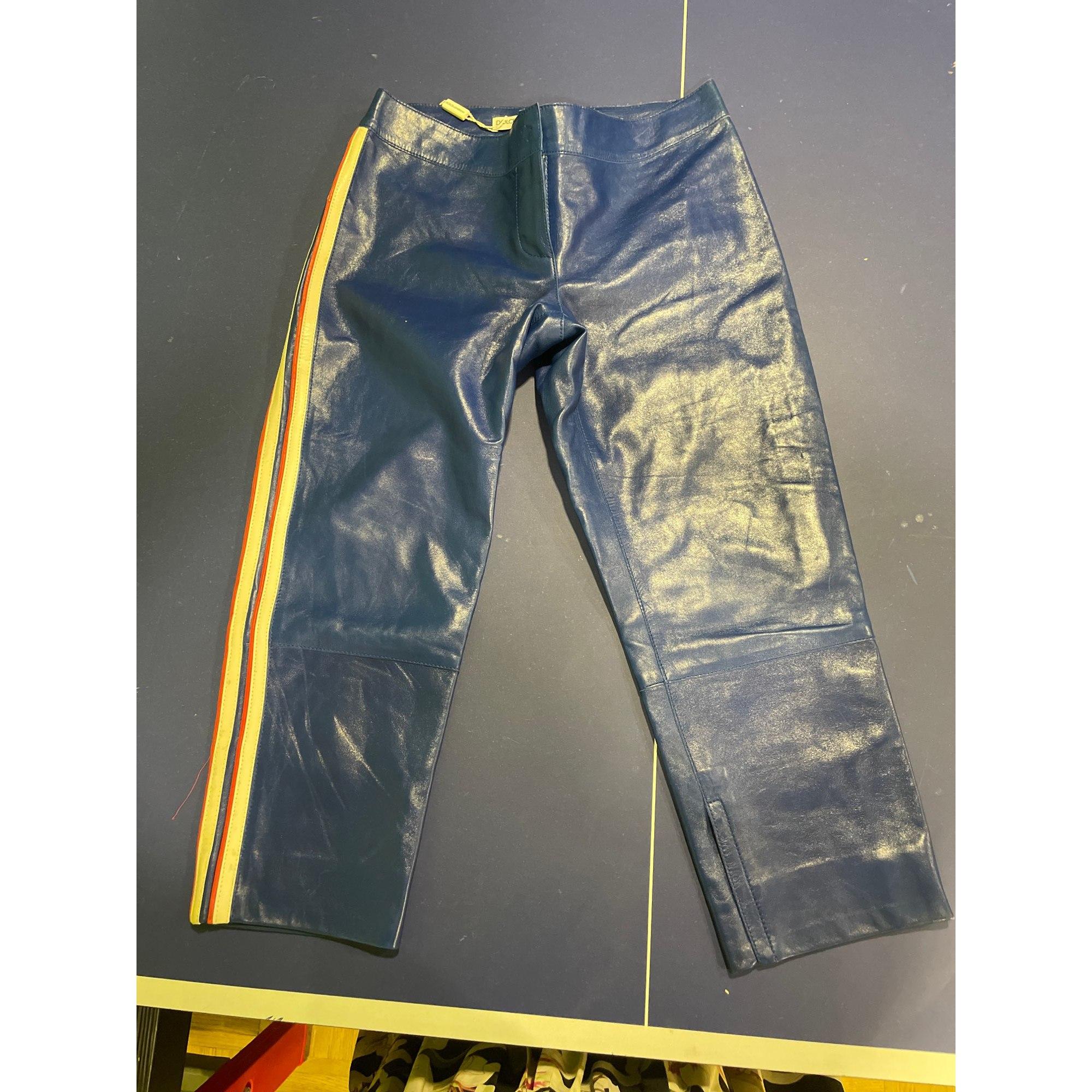 Pantalon carotte DOLCE & GABBANA Bleu, bleu marine, bleu turquoise
