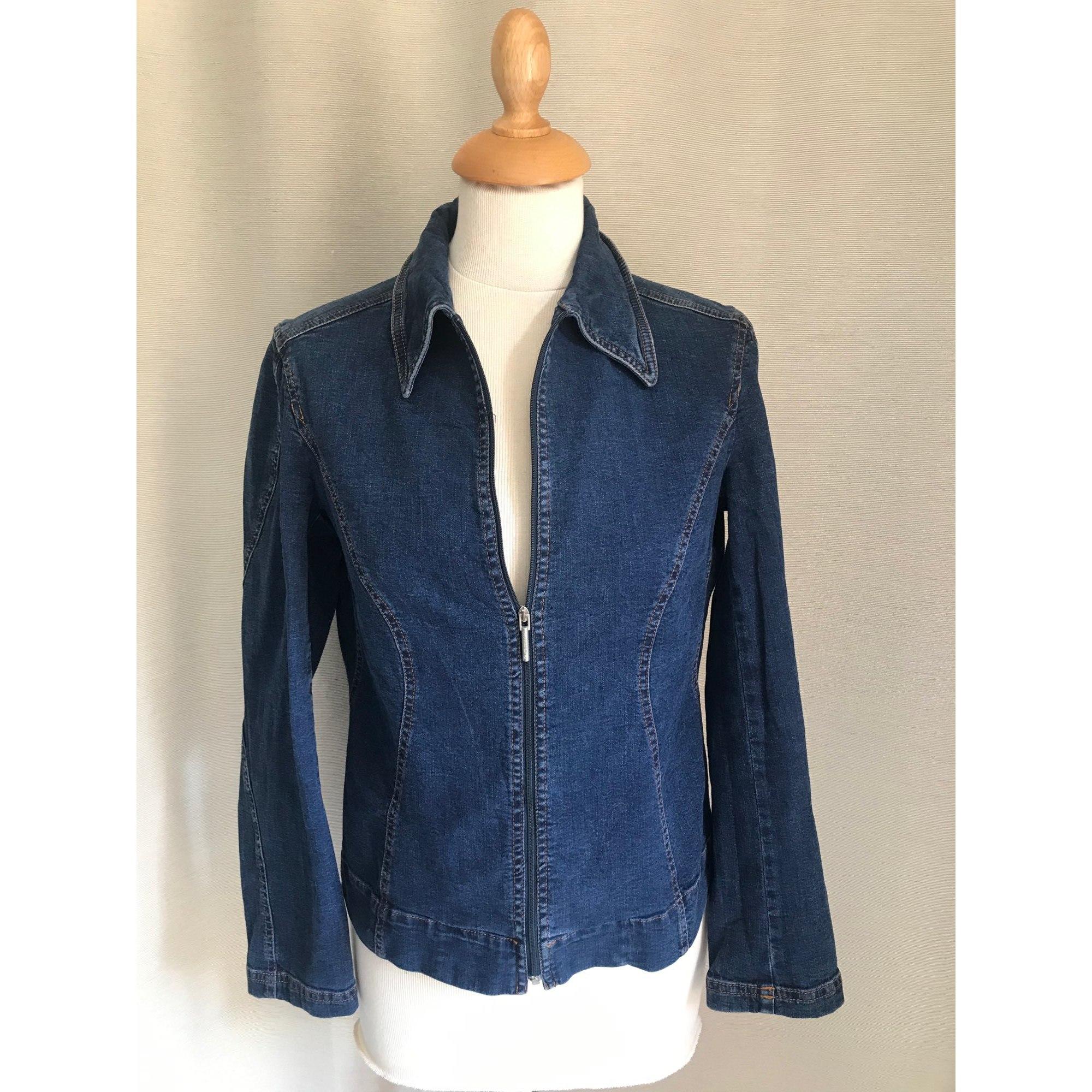 Veste en jean TRUSSARDI Bleu, bleu marine, bleu turquoise