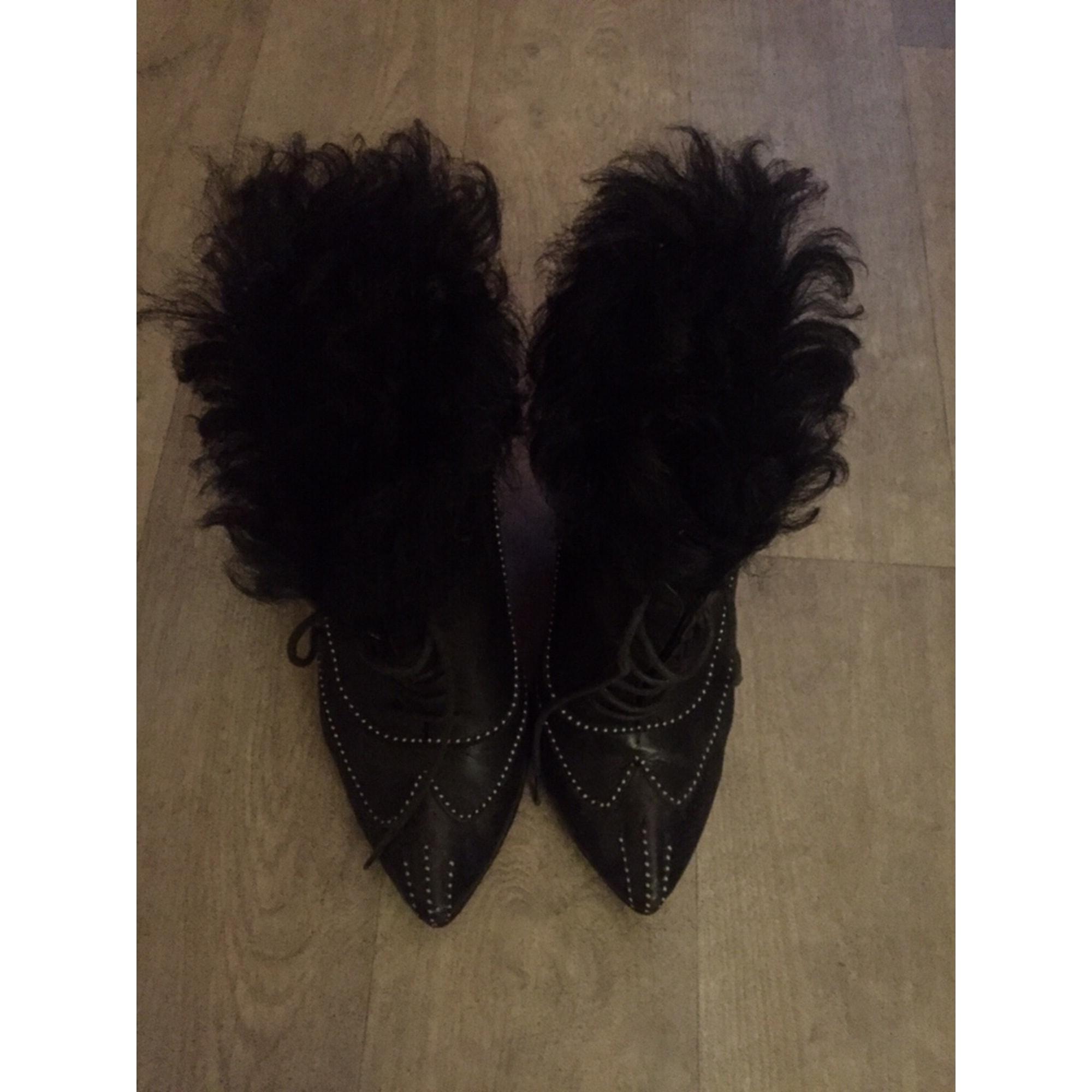 Bottines & low boots à talons ROBERTO CAVALLI Noir