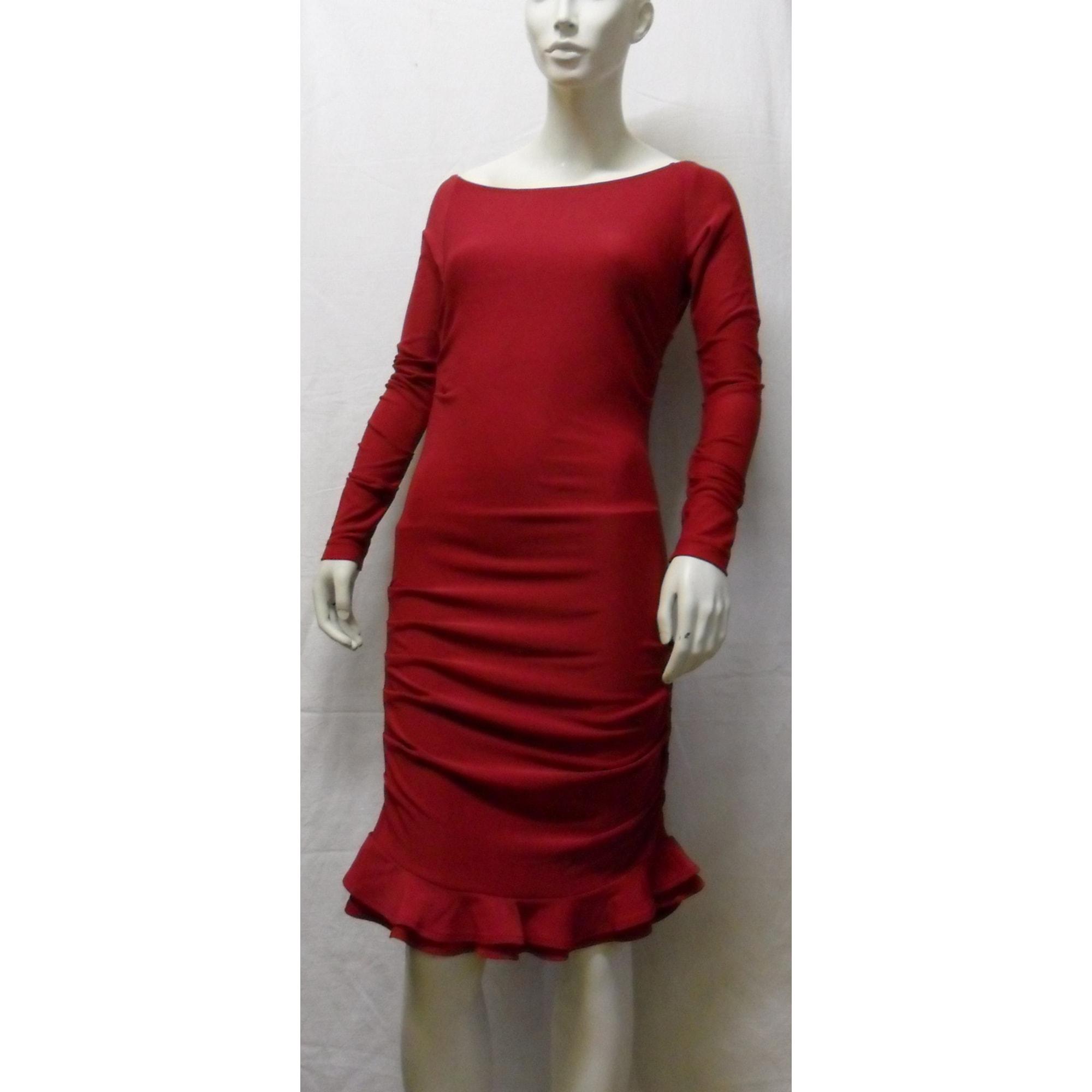 Robe courte CAPUCINE PUERARI Rouge, bordeaux
