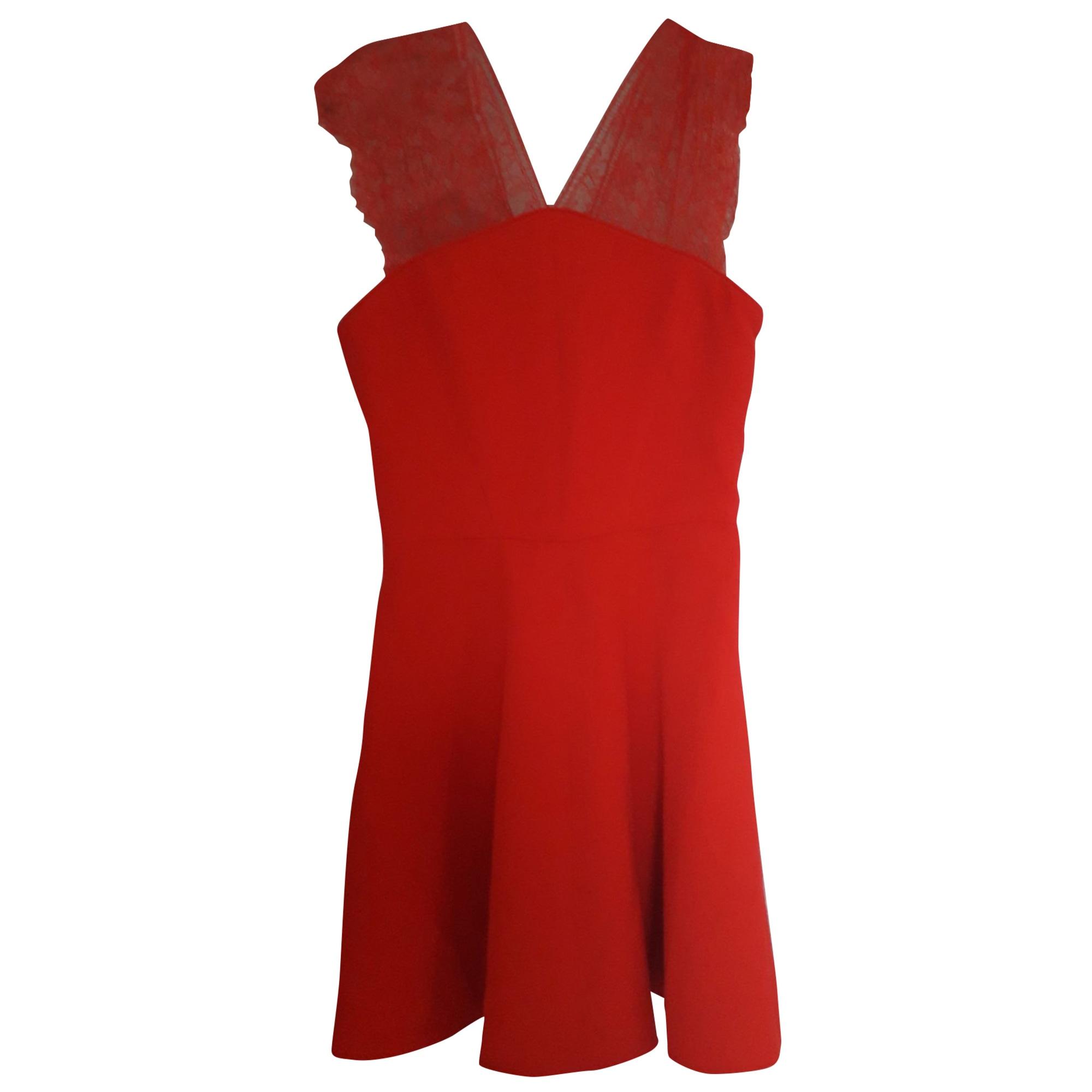 Robe courte THE KOOPLES Rouge, bordeaux