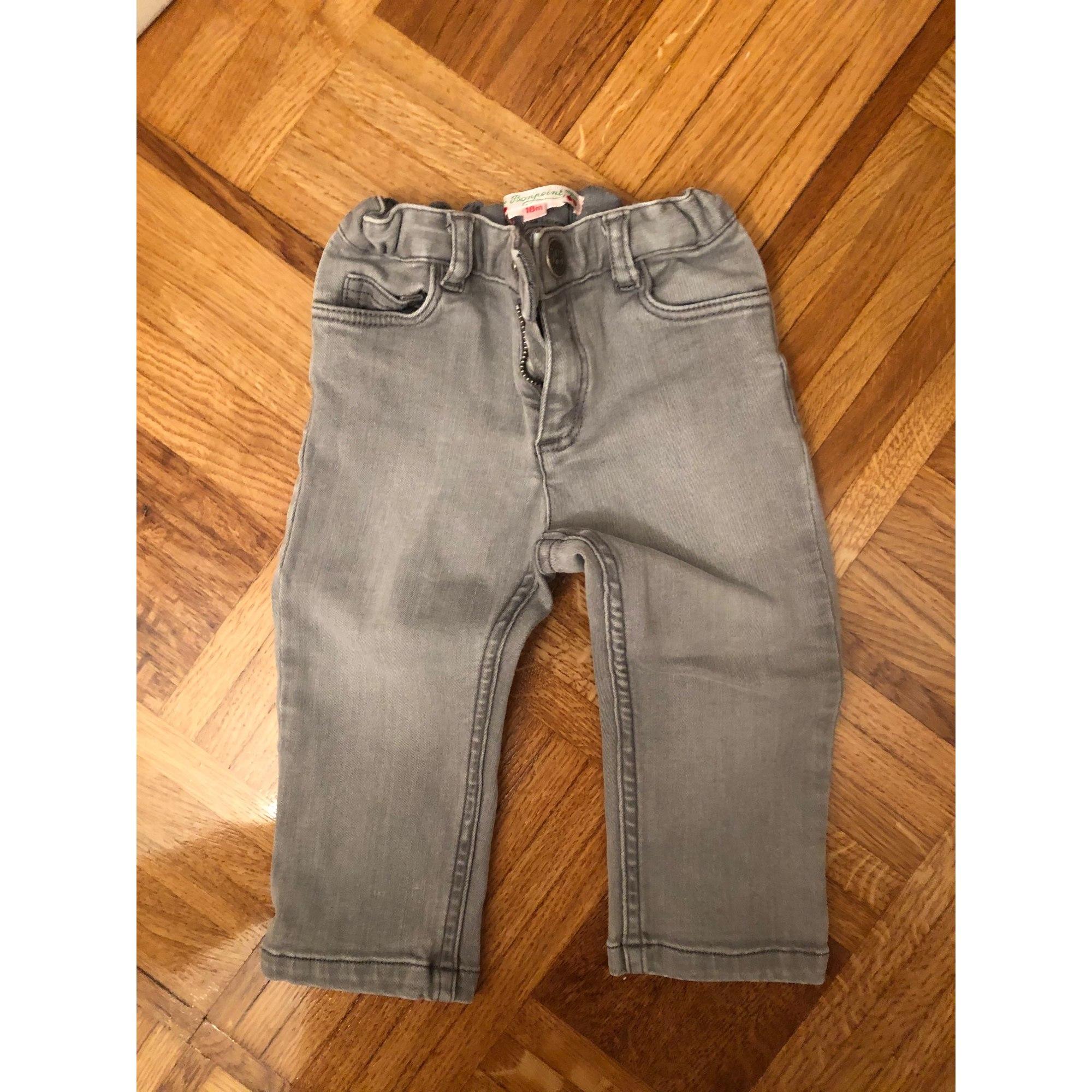Pantalon BONPOINT Gris, anthracite