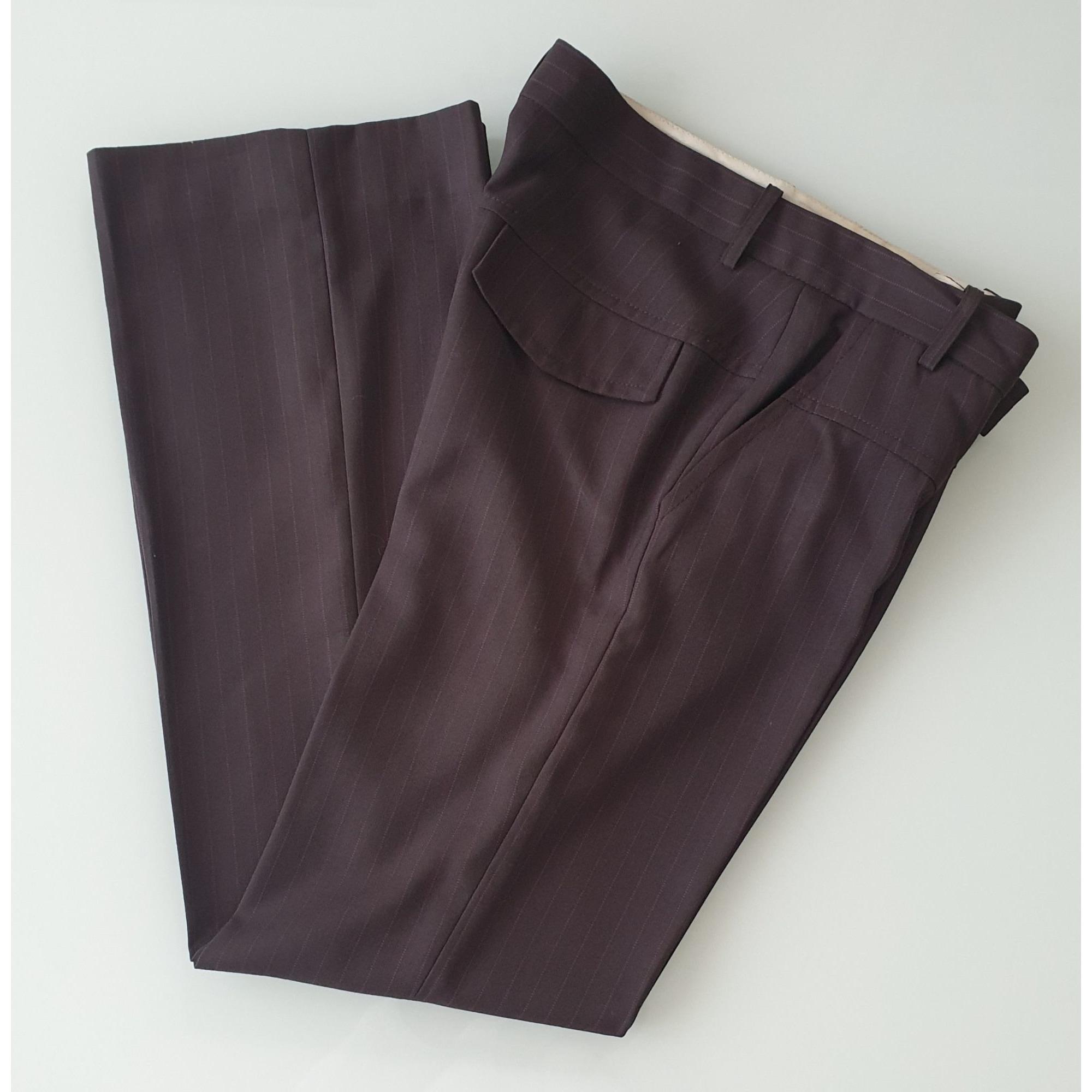 Pantalon droit MAJE Marron