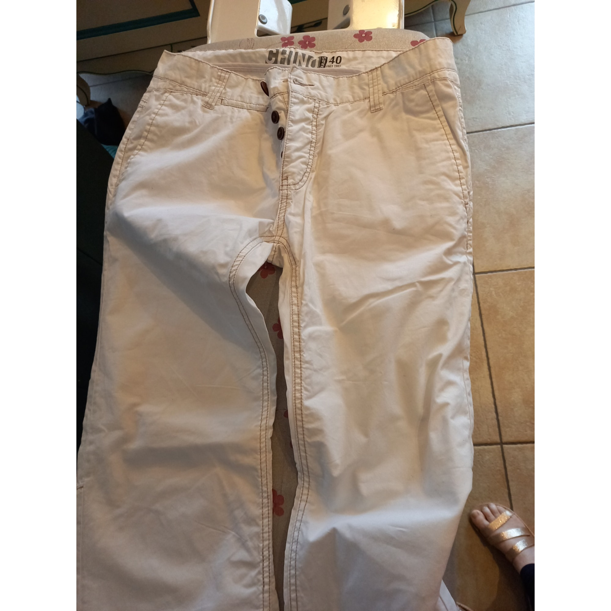 Pantalon droit JULES Blanc, blanc cassé, écru
