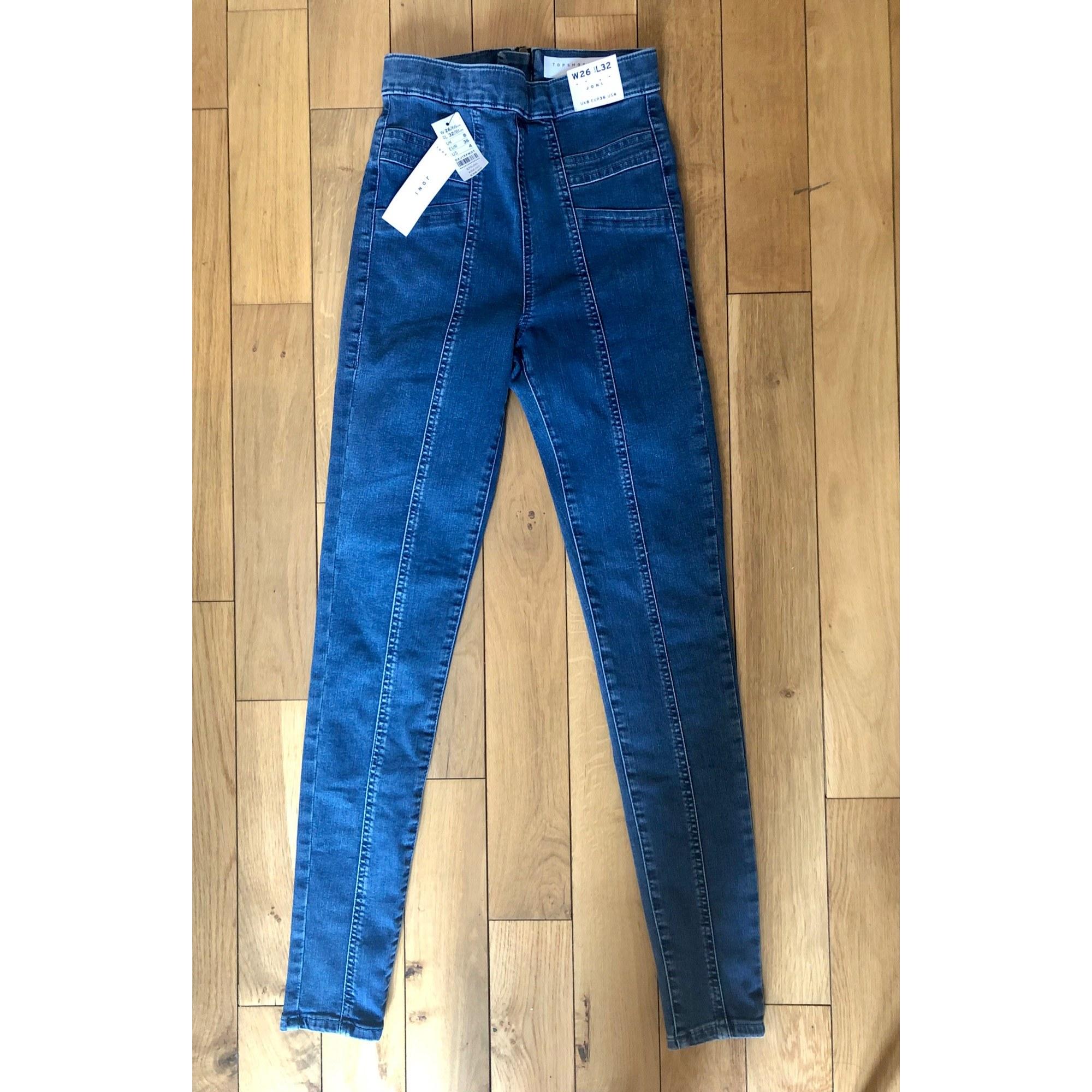 Jeans slim TOPSHOP Bleu, bleu marine, bleu turquoise
