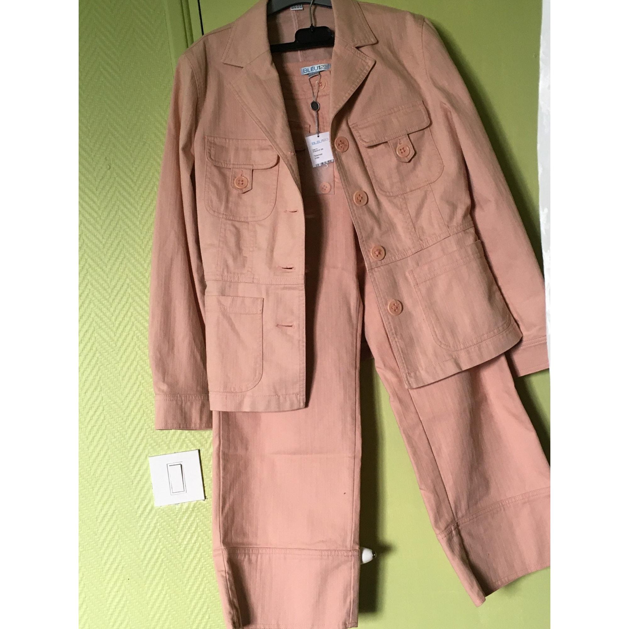 Tailleur pantalon BLEU 123 Rose, fuschia, vieux rose