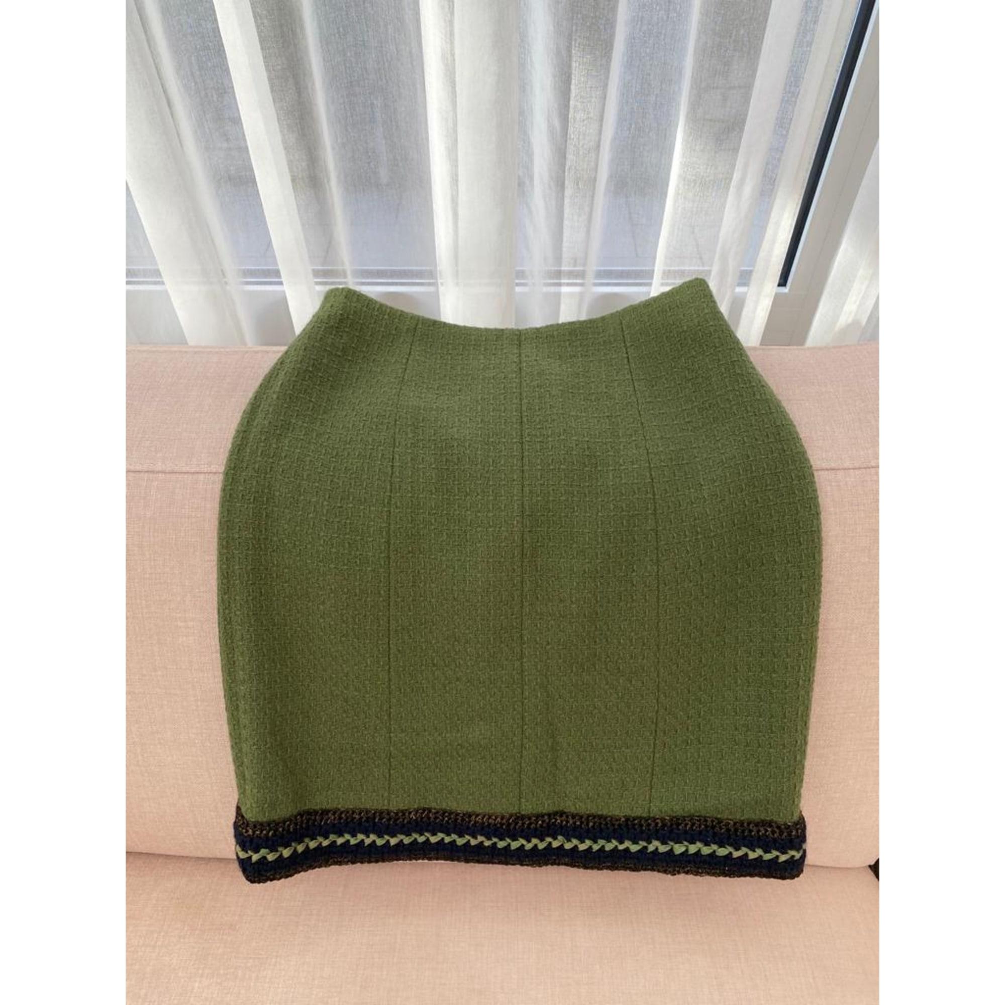 Jupe mi-longue CHANEL Vert